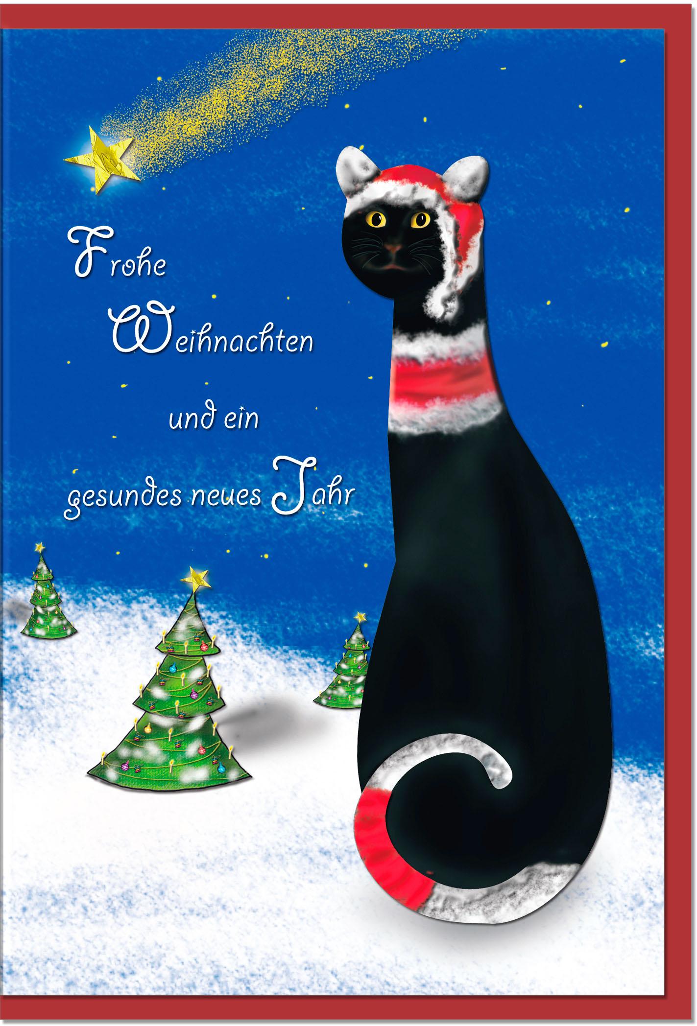 Weihnachtskarten / Grußkarten /Weihnachten Weihnachtliche Katze