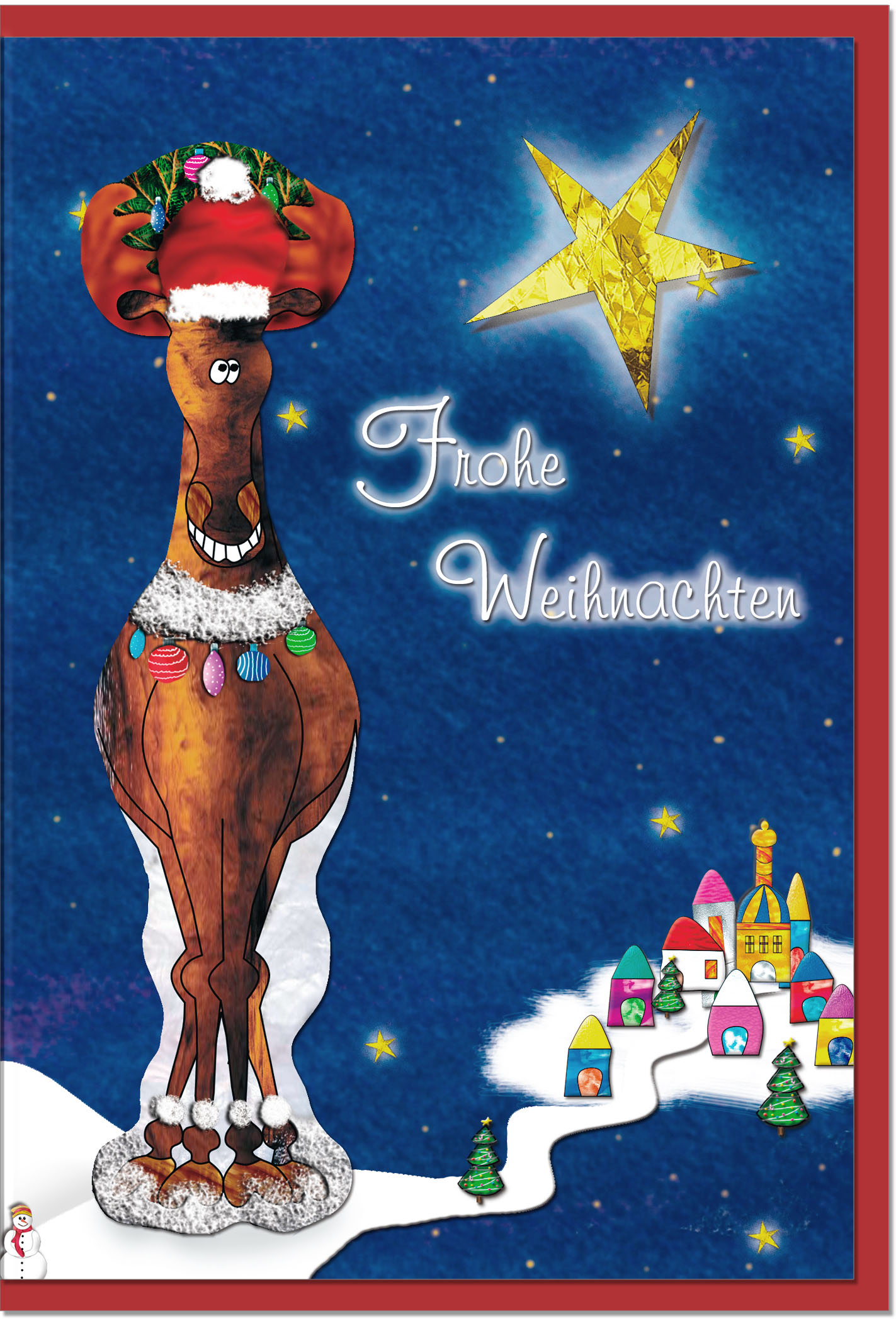 Weihnachtskarten / Grußkarten /Weihnachten Weihnachtliches Rentier