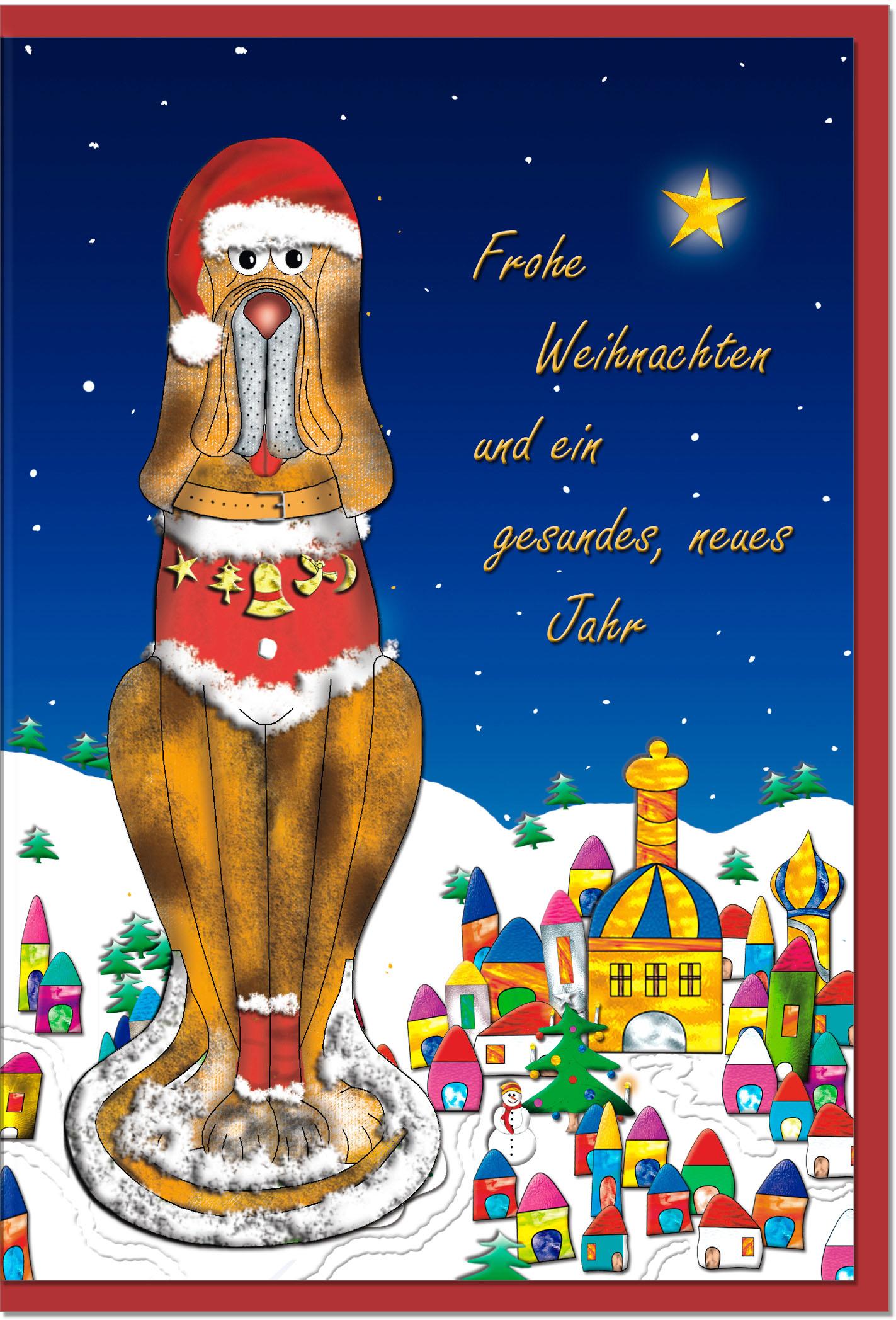 Weihnachtskarten / Grußkarten /Weihnachten Weihnachtlicher Hund