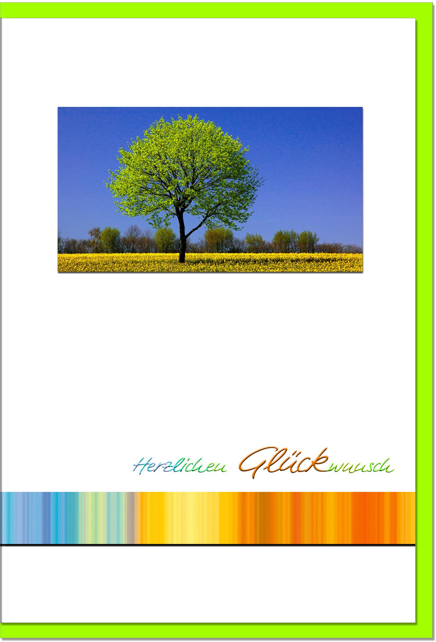Glückwunschkarten / Grußkarten /Glückwunsch Baum