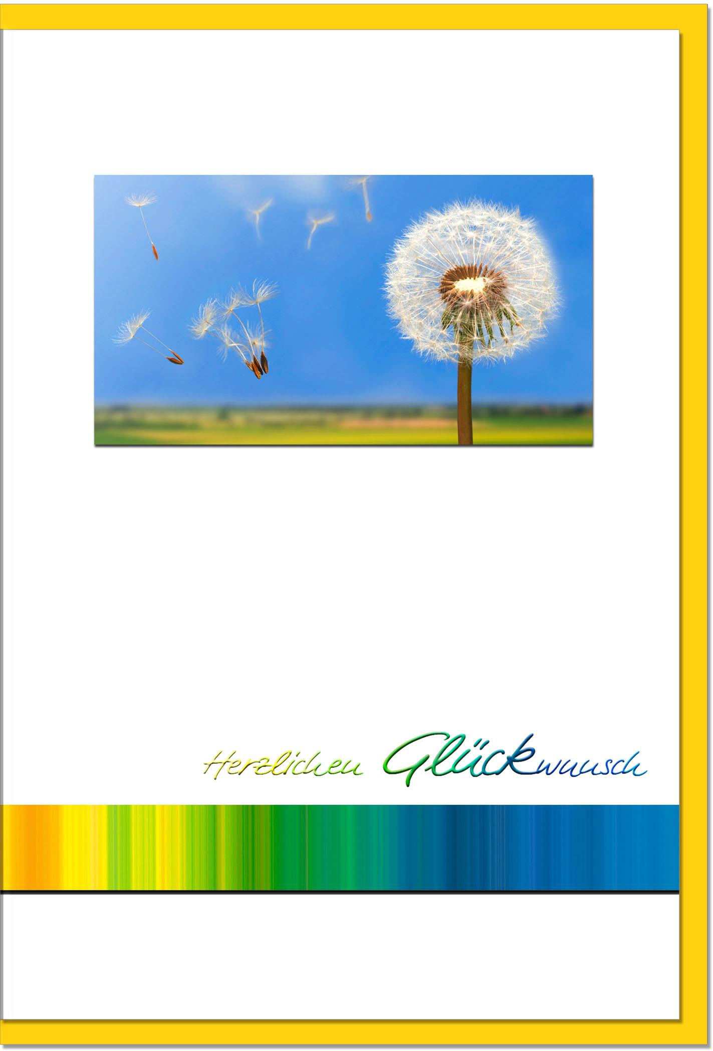 Glückwunschkarten / Grußkarten /Glückwunsch Pusteblume