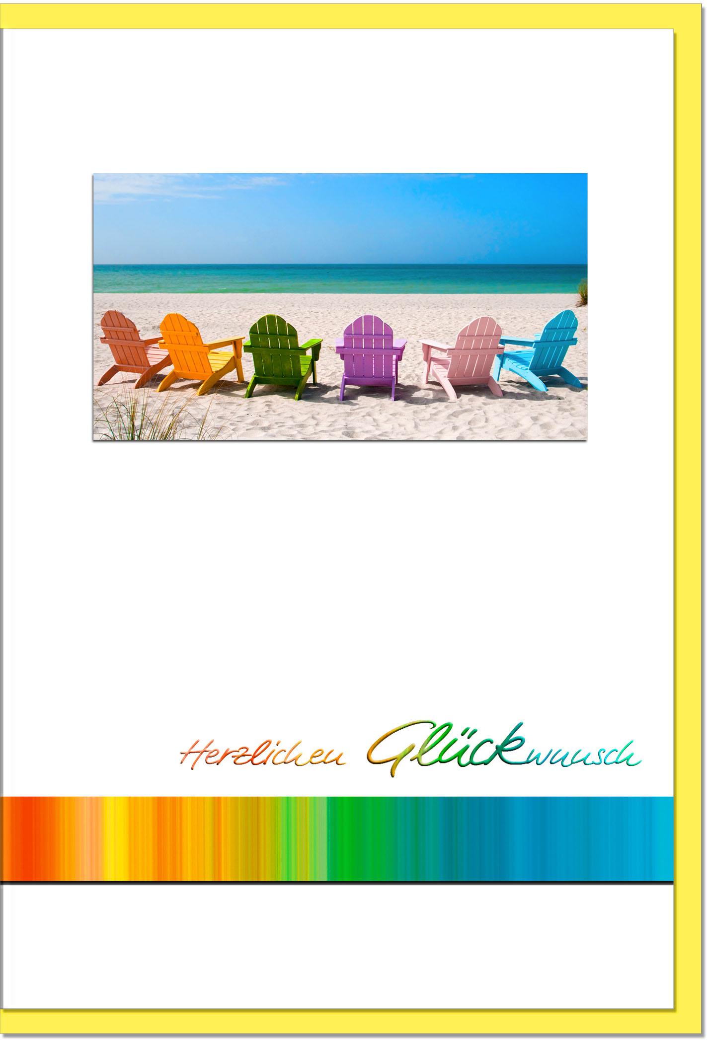 Glückwunschkarten / Grußkarten /Glückwunsch Strand