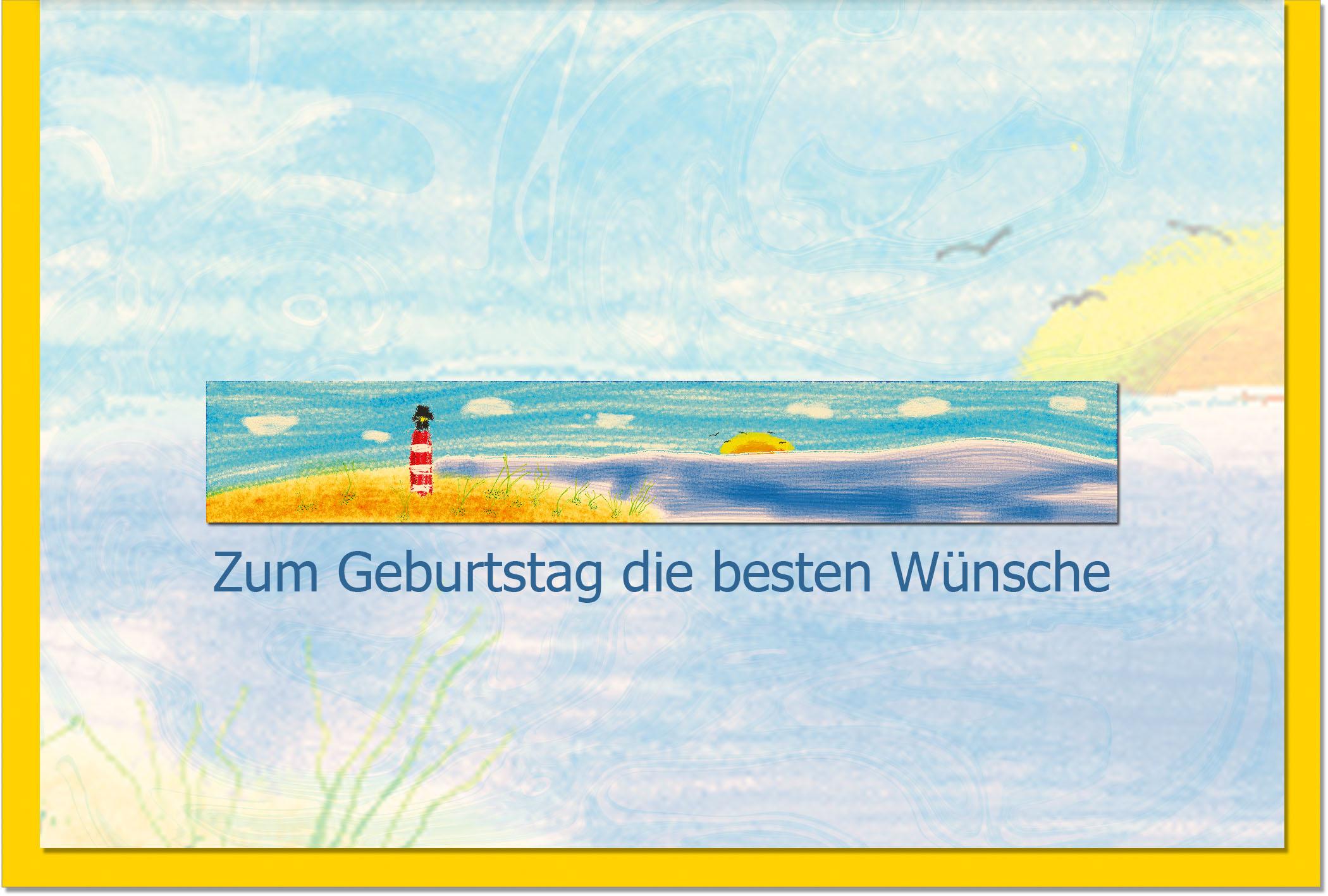 Geburtstagskarten / Grußkarten /Geburtstag Küste