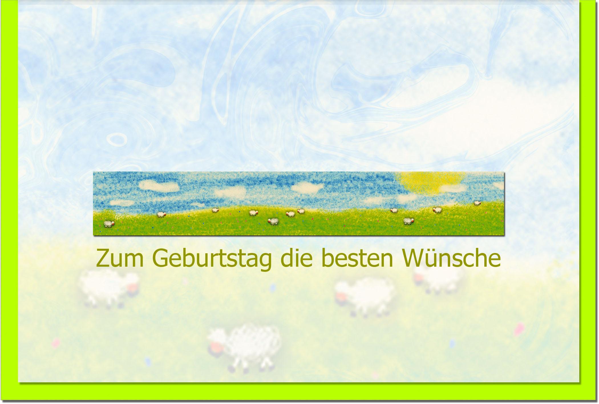 Geburtstagskarten / Grußkarten /Geburtstag Schafe