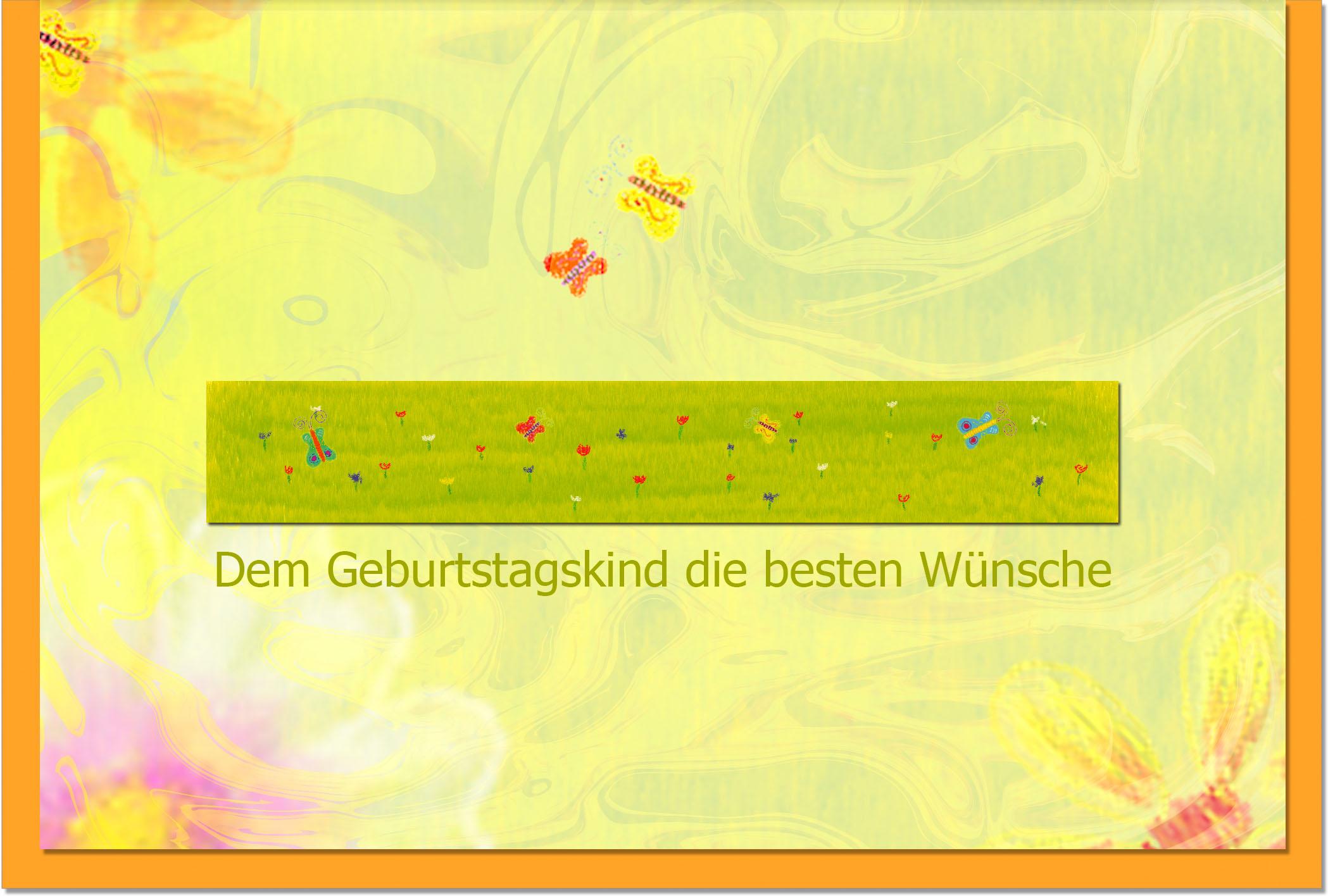 Geburtstagskarten / Grußkarten /Geburtstag Schmetterlinge