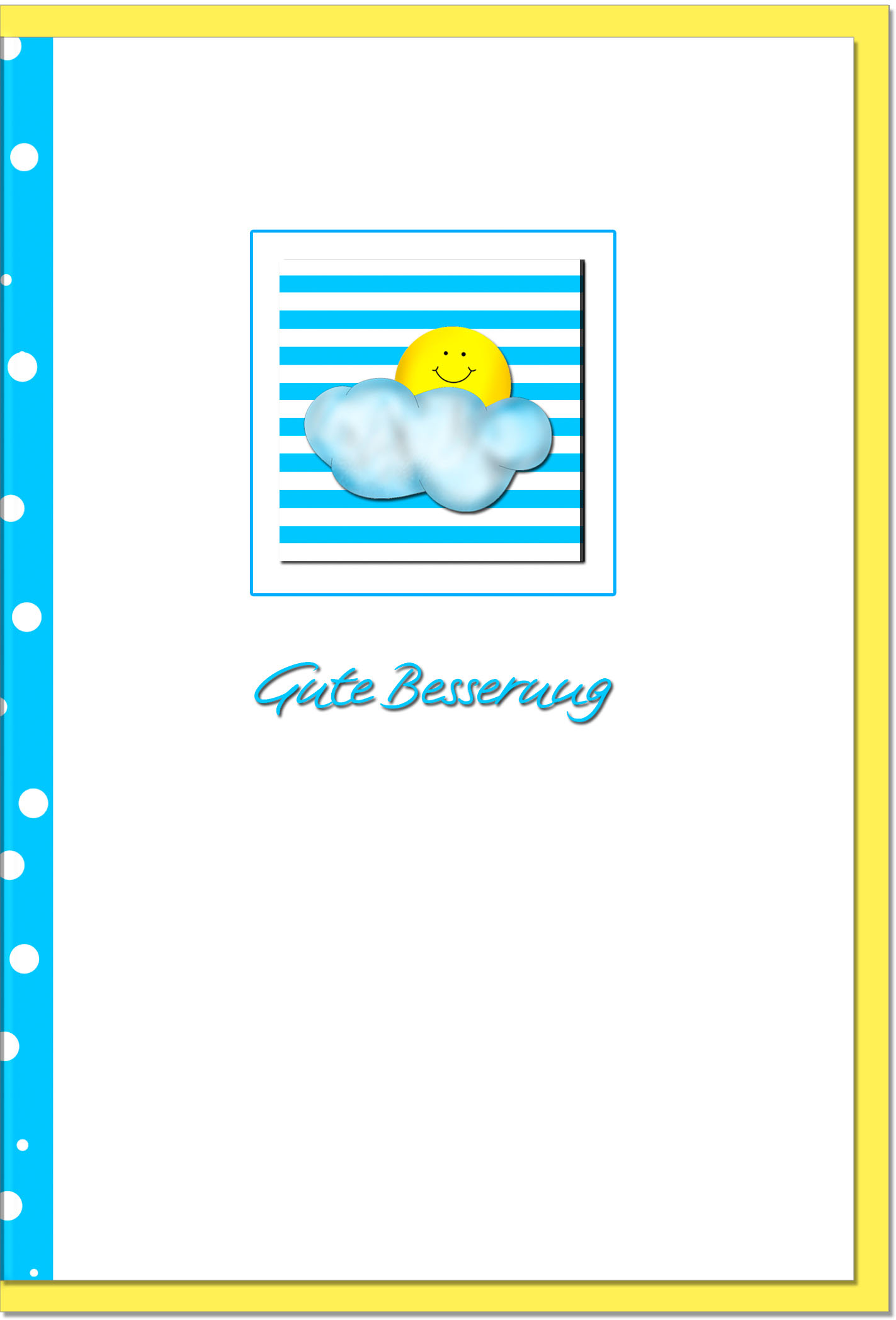 Genesungskarten / Grußkarten /Genesung Sonne