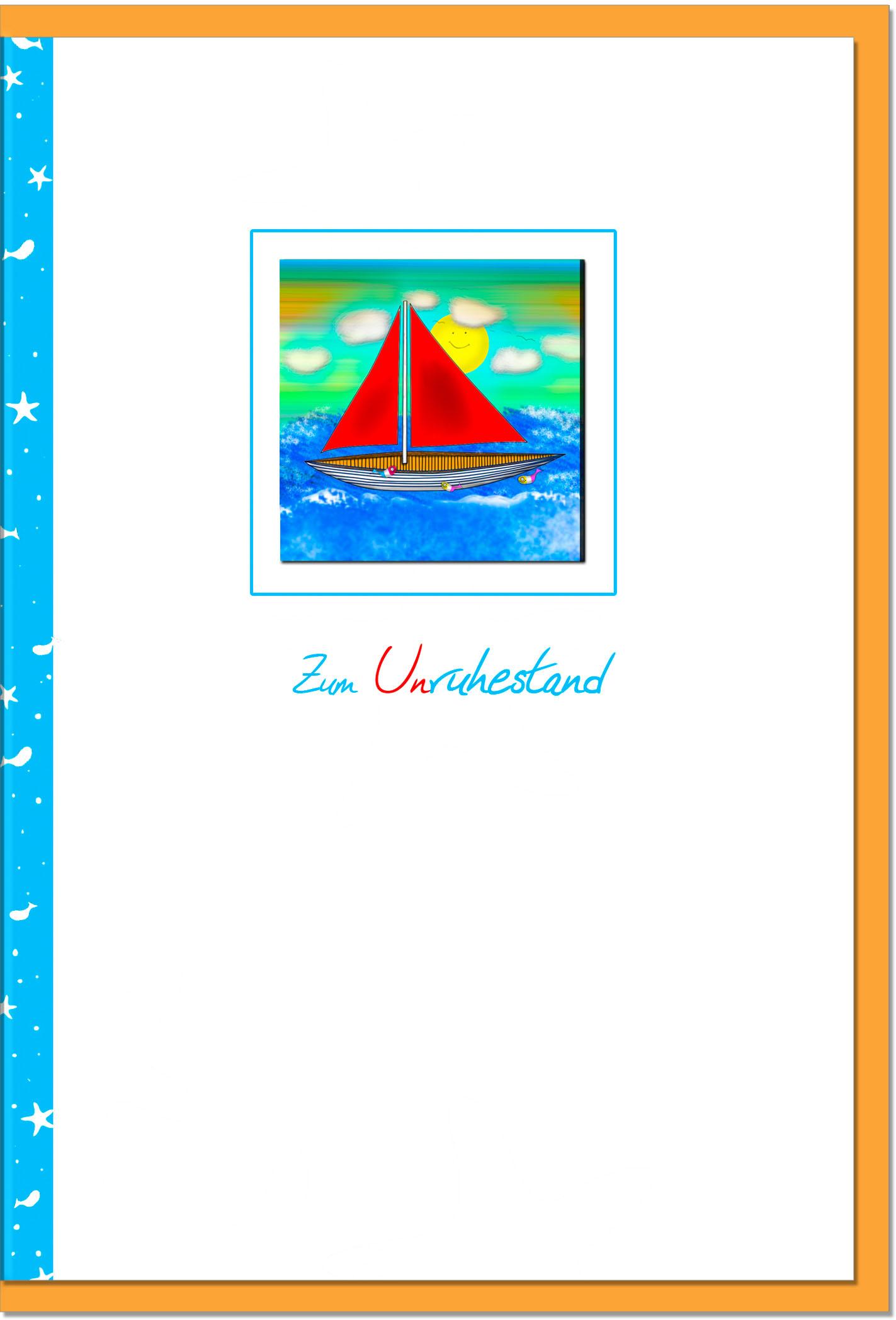 Ruhestand / Grußkarten /Ruhestand Boot