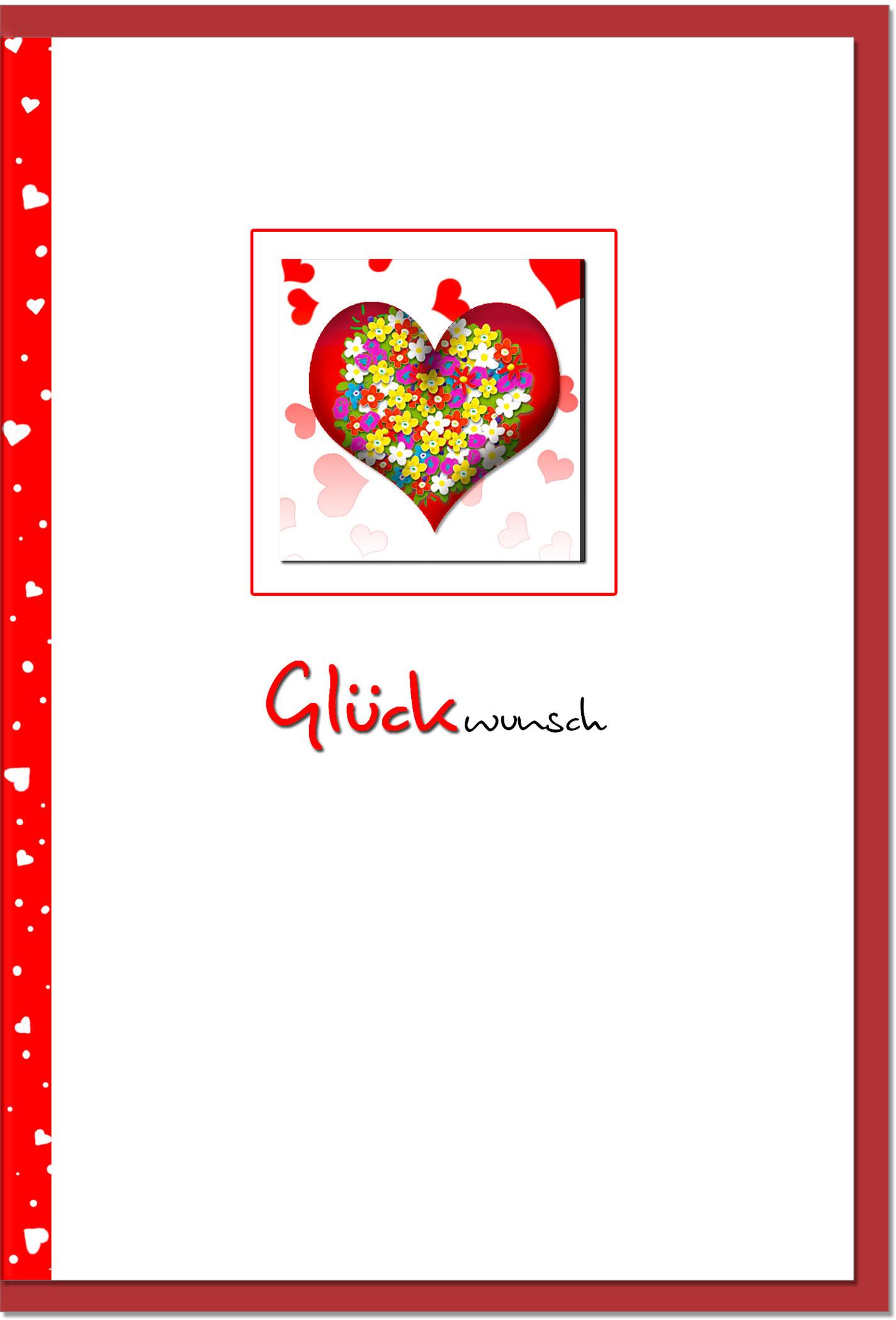 Glückwunschkarten / Grußkarten /Glückwunsch Herz