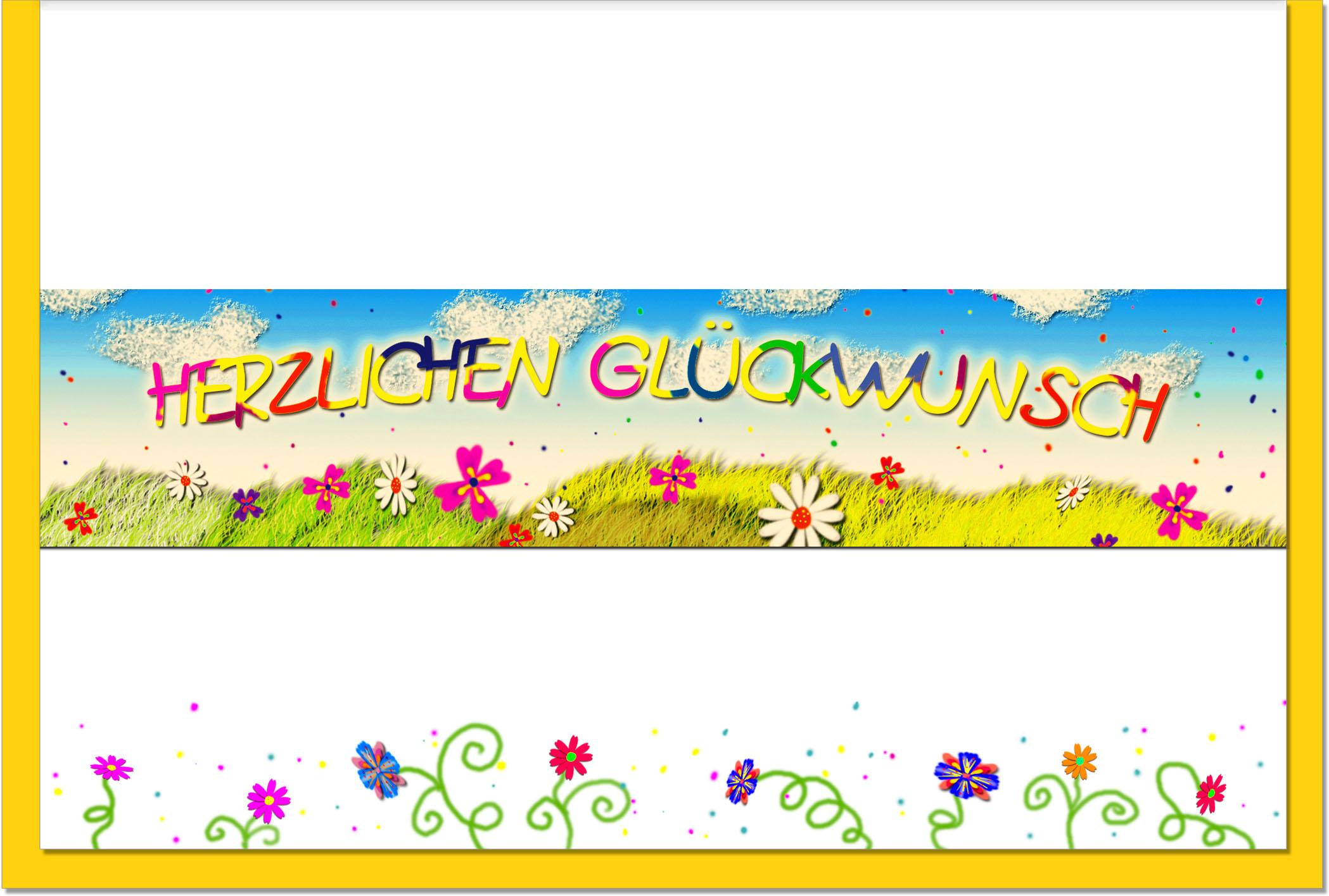 Glückwunschkarten / Grußkarten /Glückwunsch Blumenwiese