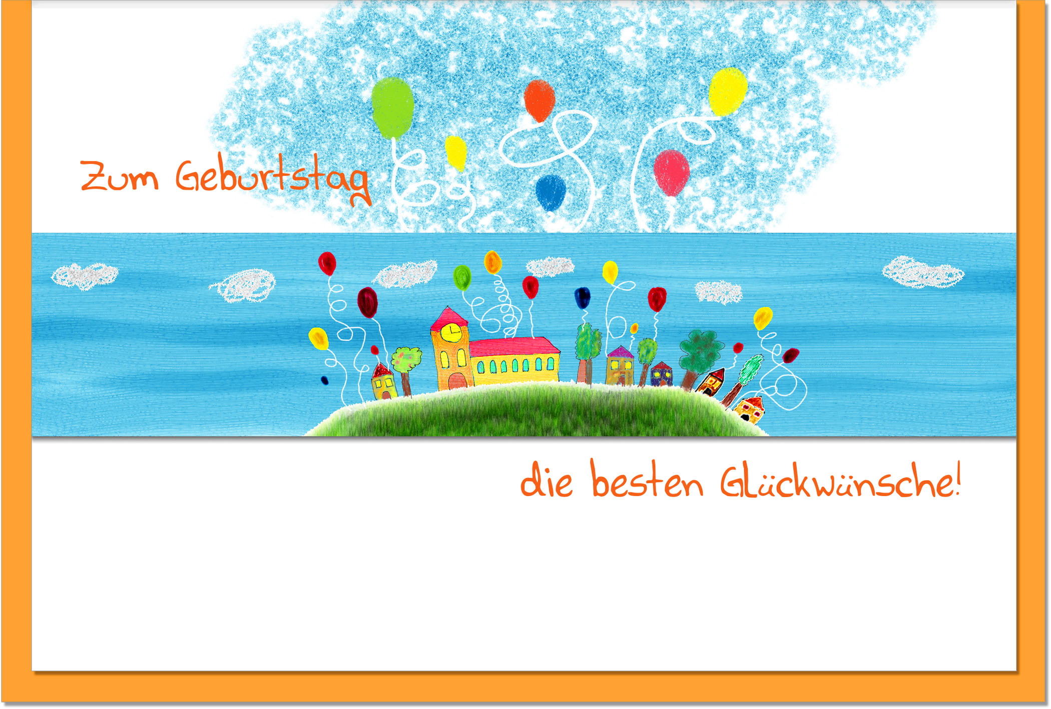 Geburtstagskarten / Grußkarten /Geburtstag Dorf