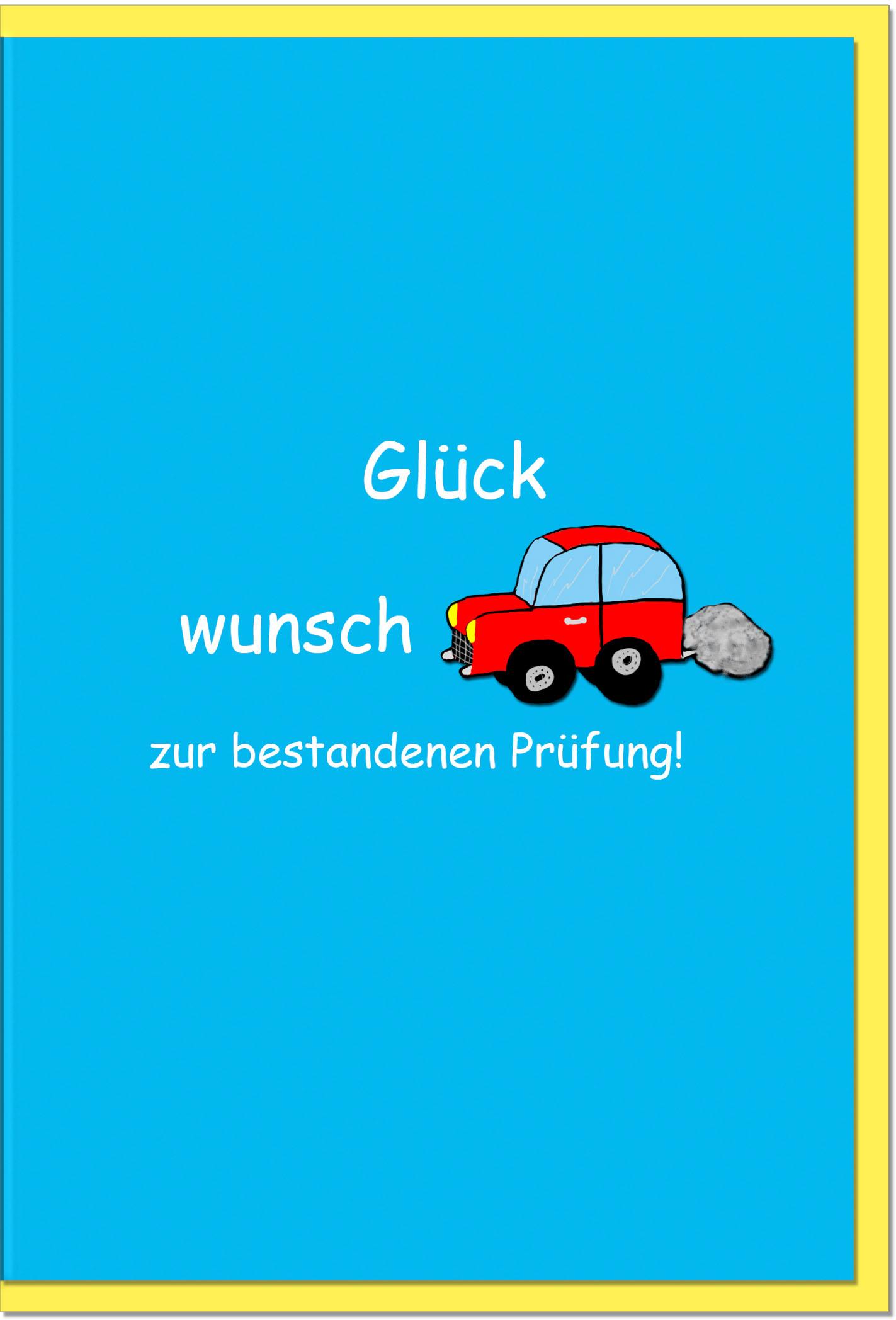 Prüfungskarten / Grußkarten /Prüfung Auto