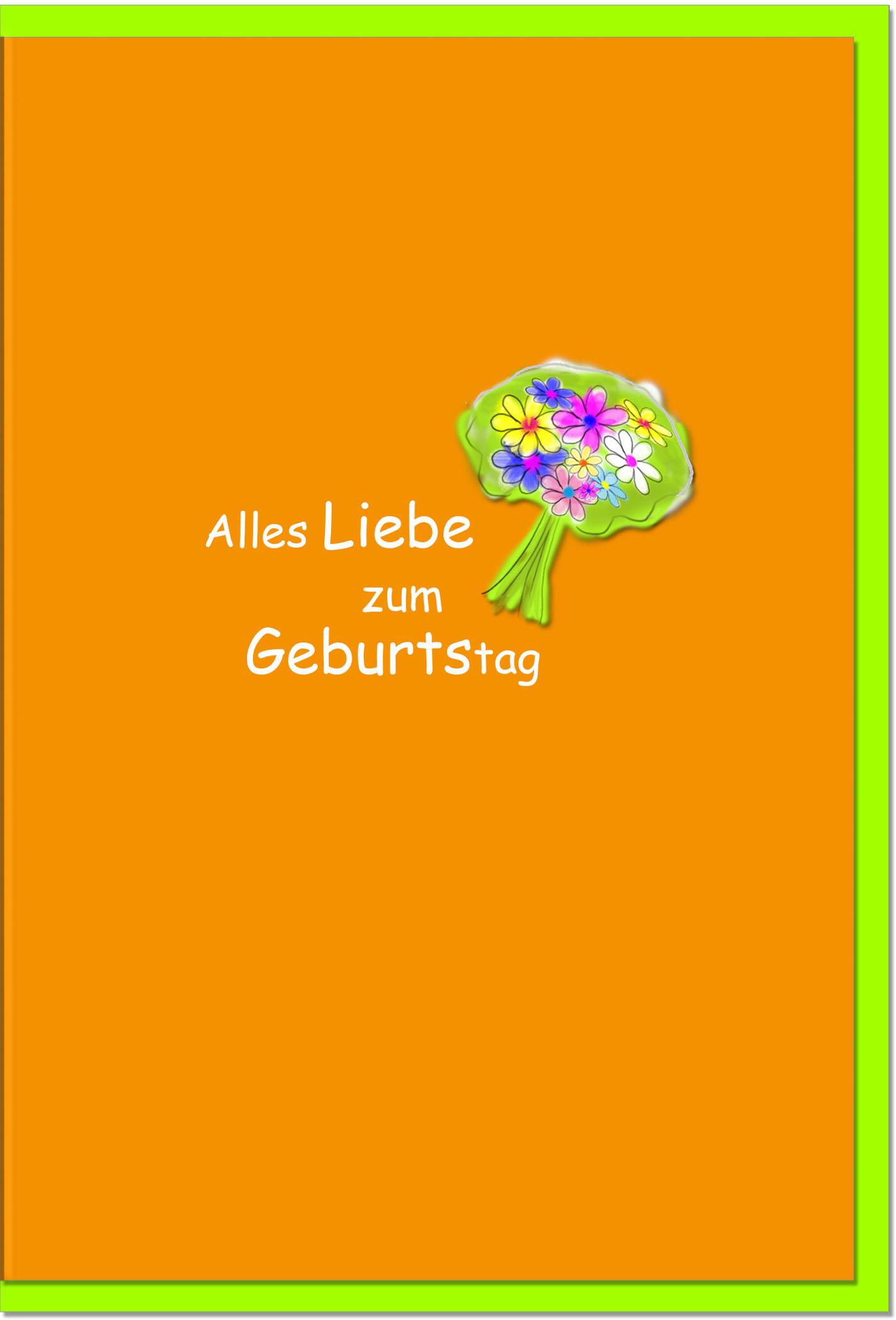 Geburtstagskarten / Grußkarten /Geburtstag Blumenstrauss