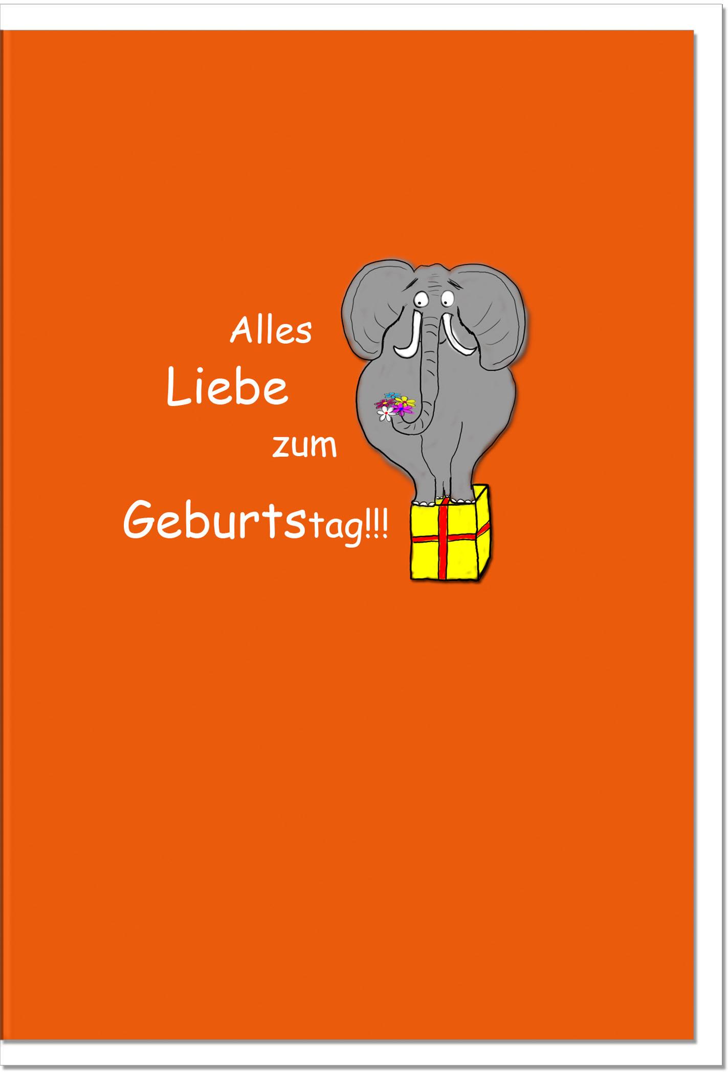 Geburtstagskarten / Grußkarten /Geburtstag Elefant
