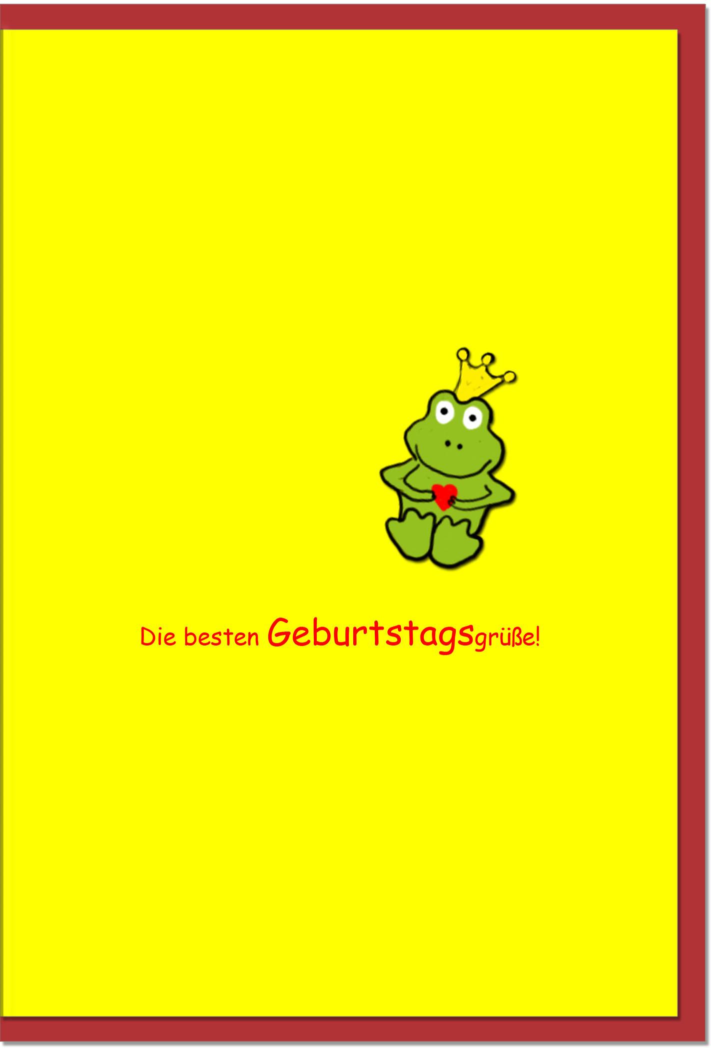 Geburtstagskarten / Grußkarten /Geburtstag Froschkönig