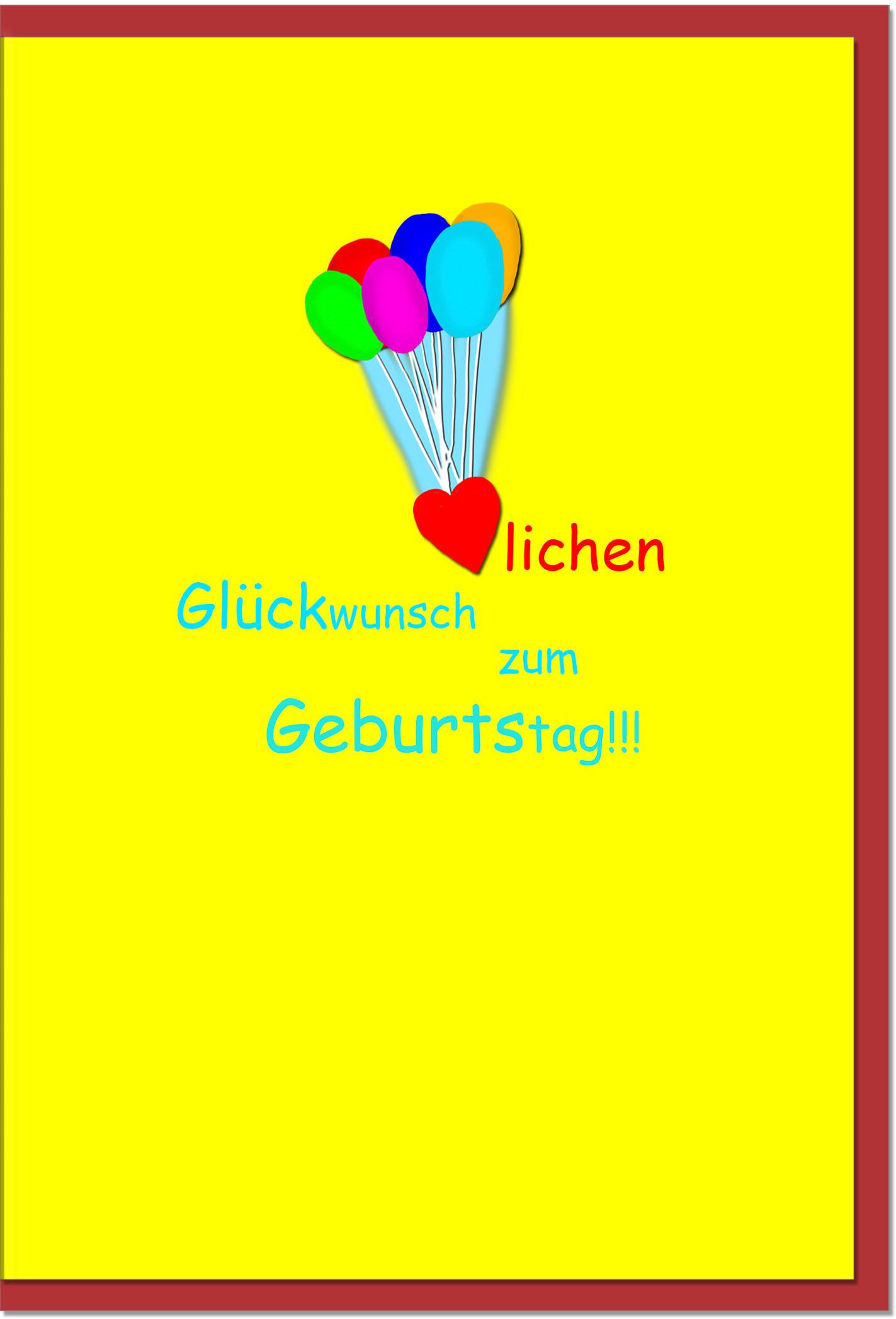 Geburtstagskarten / Grußkarten /Geburtstag Luftballons