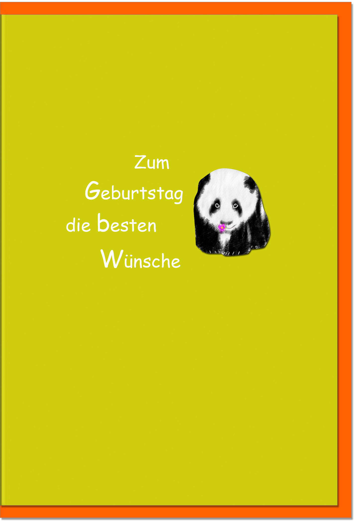 Geburtstagskarten / Grußkarten /Geburtstag Pandabär