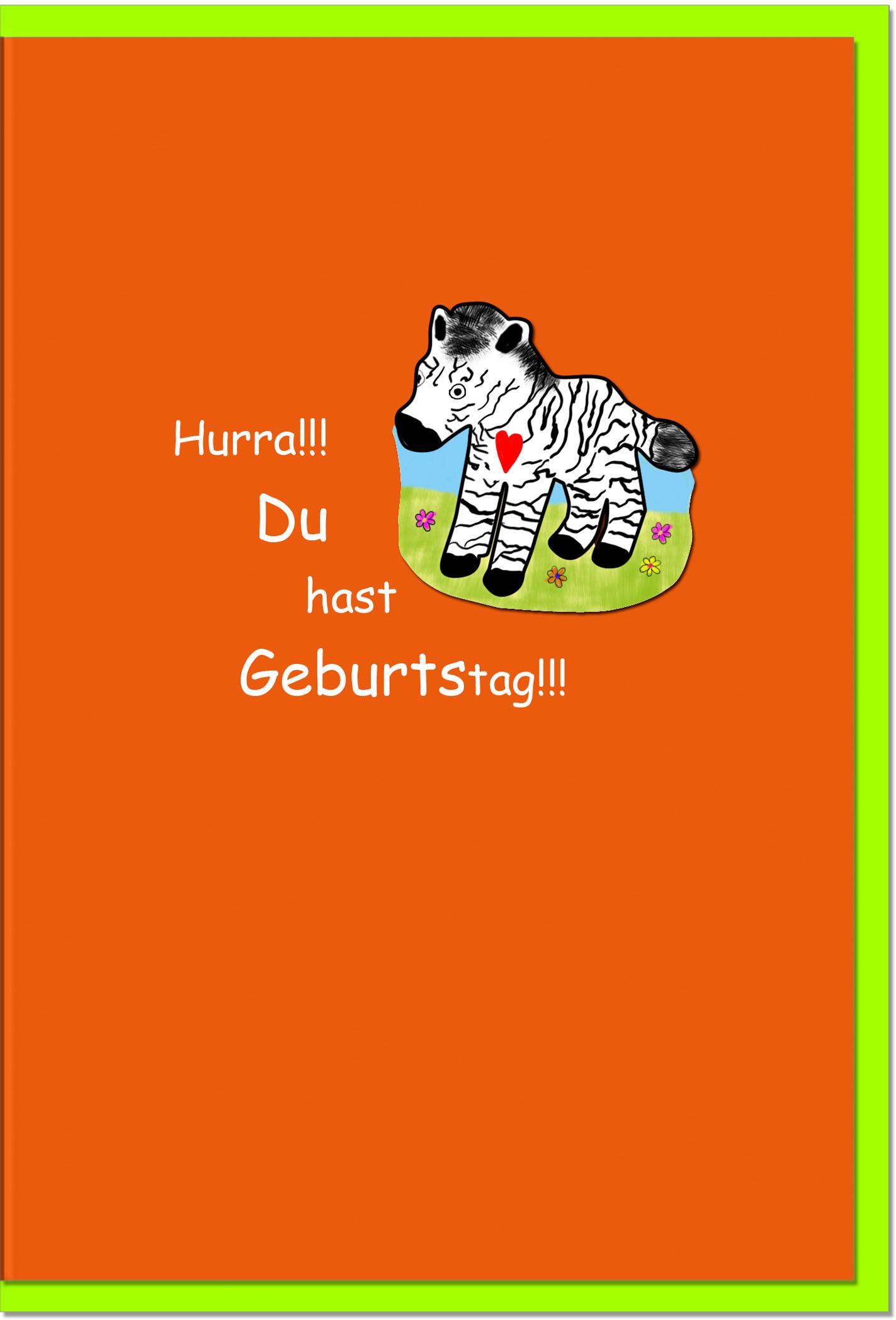 Geburtstagskarten / Grußkarten /Geburtstag Zebra