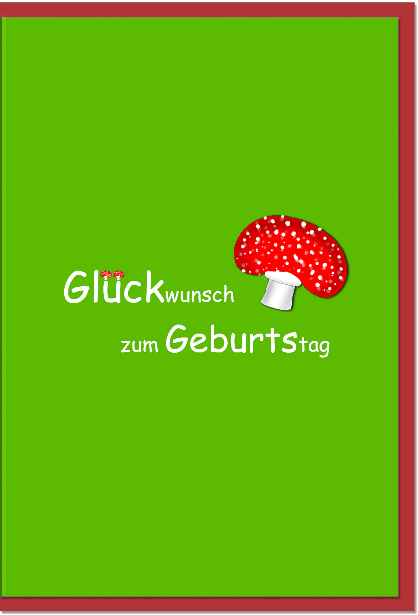 Geburtstagskarten / Grußkarten /Geburtstag Fliegenpilz