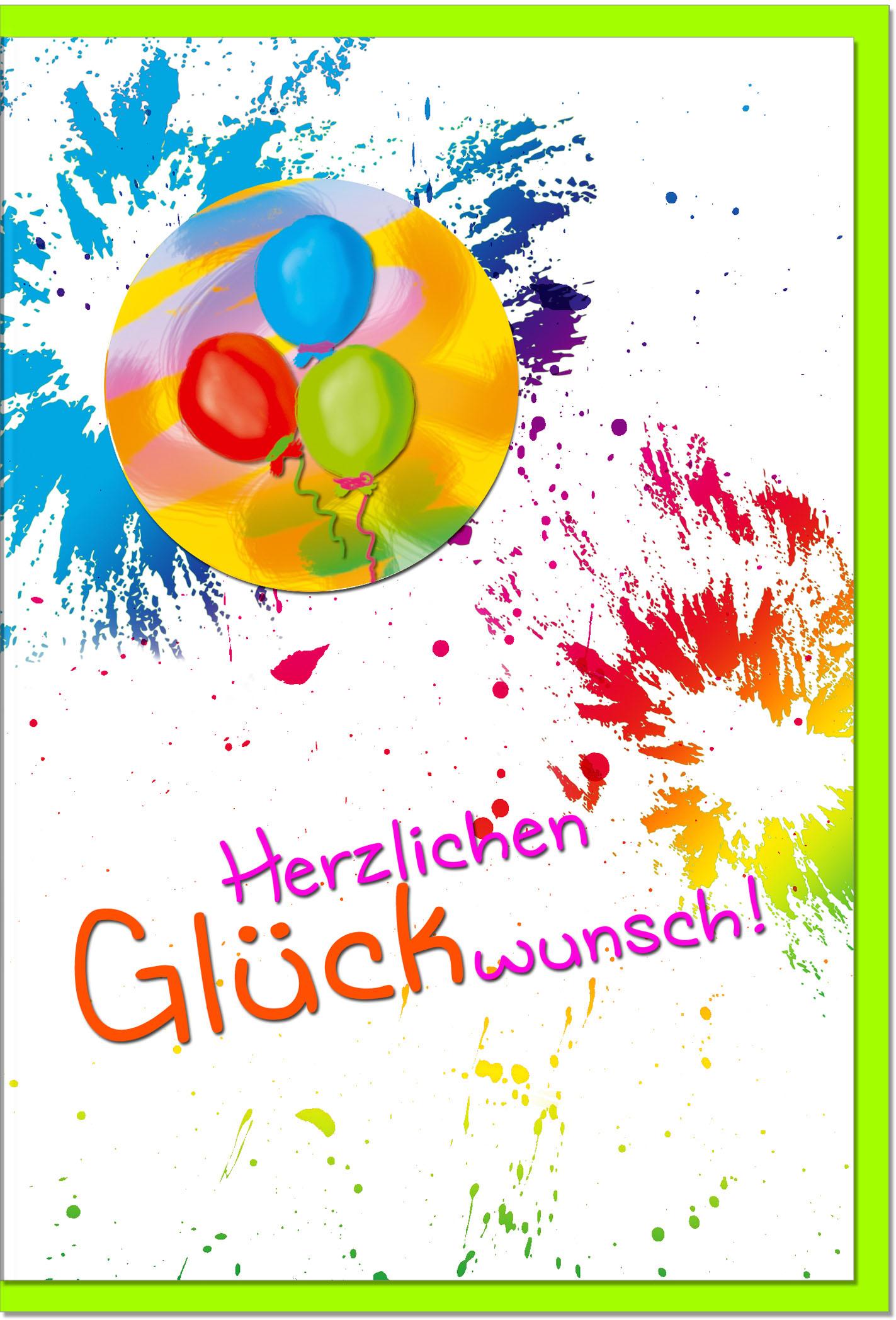 Glückwunschkarten / Grußkarten /Glückwunsch Luftballons