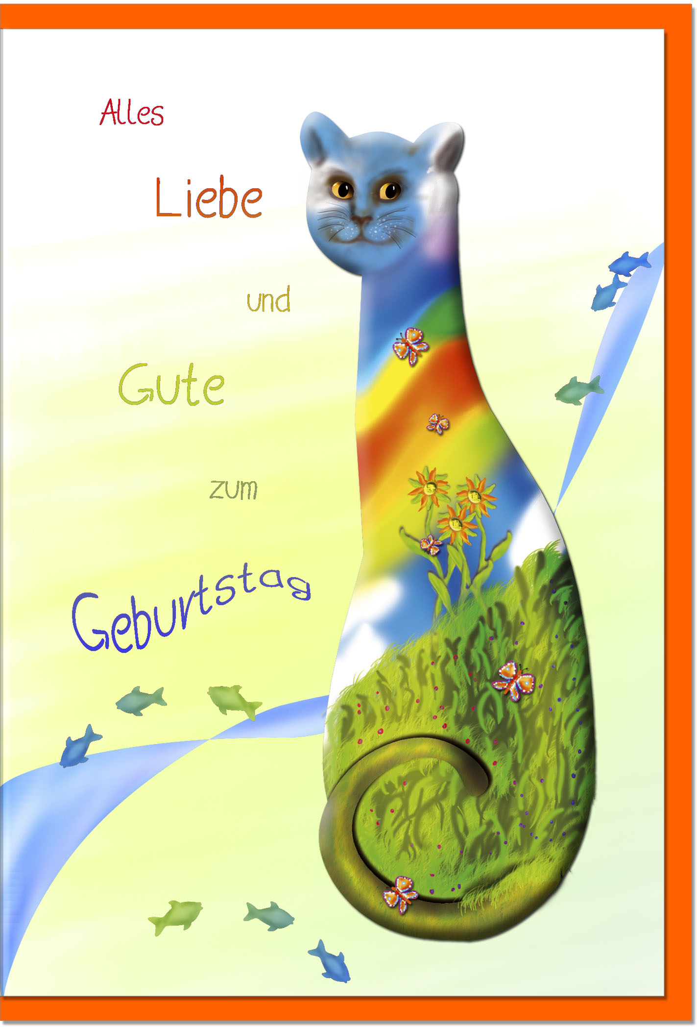 Geburtstagskarten / Grußkarten /Geburtstag Katze