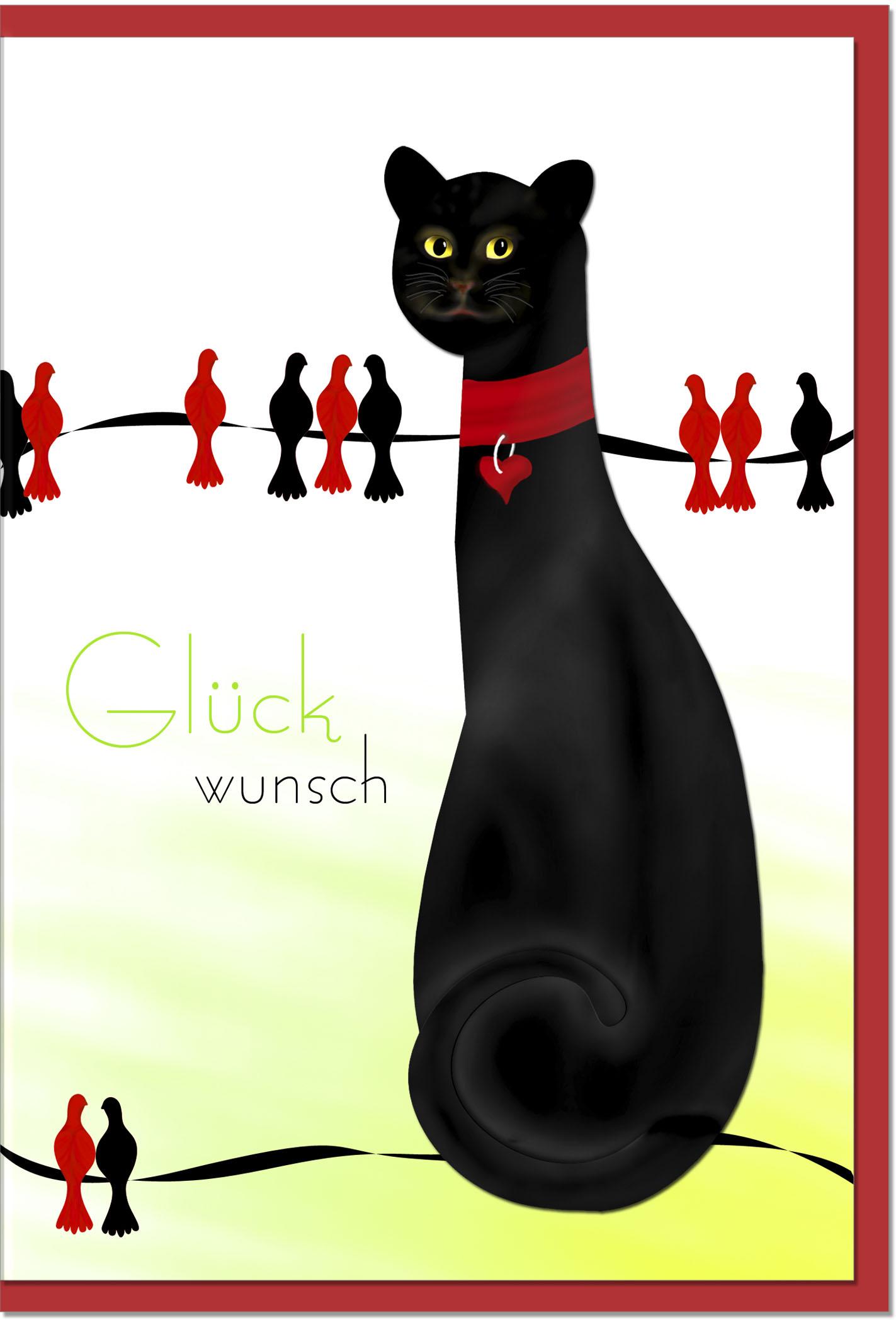 Glückwunschkarten / Grußkarten /Glückwunsch Katze