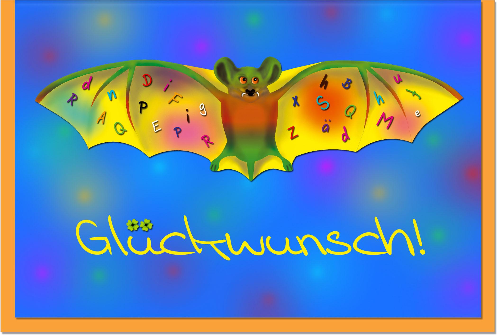 Glückwunschkarten / Grußkarten /Glückwunsch Fledermaus