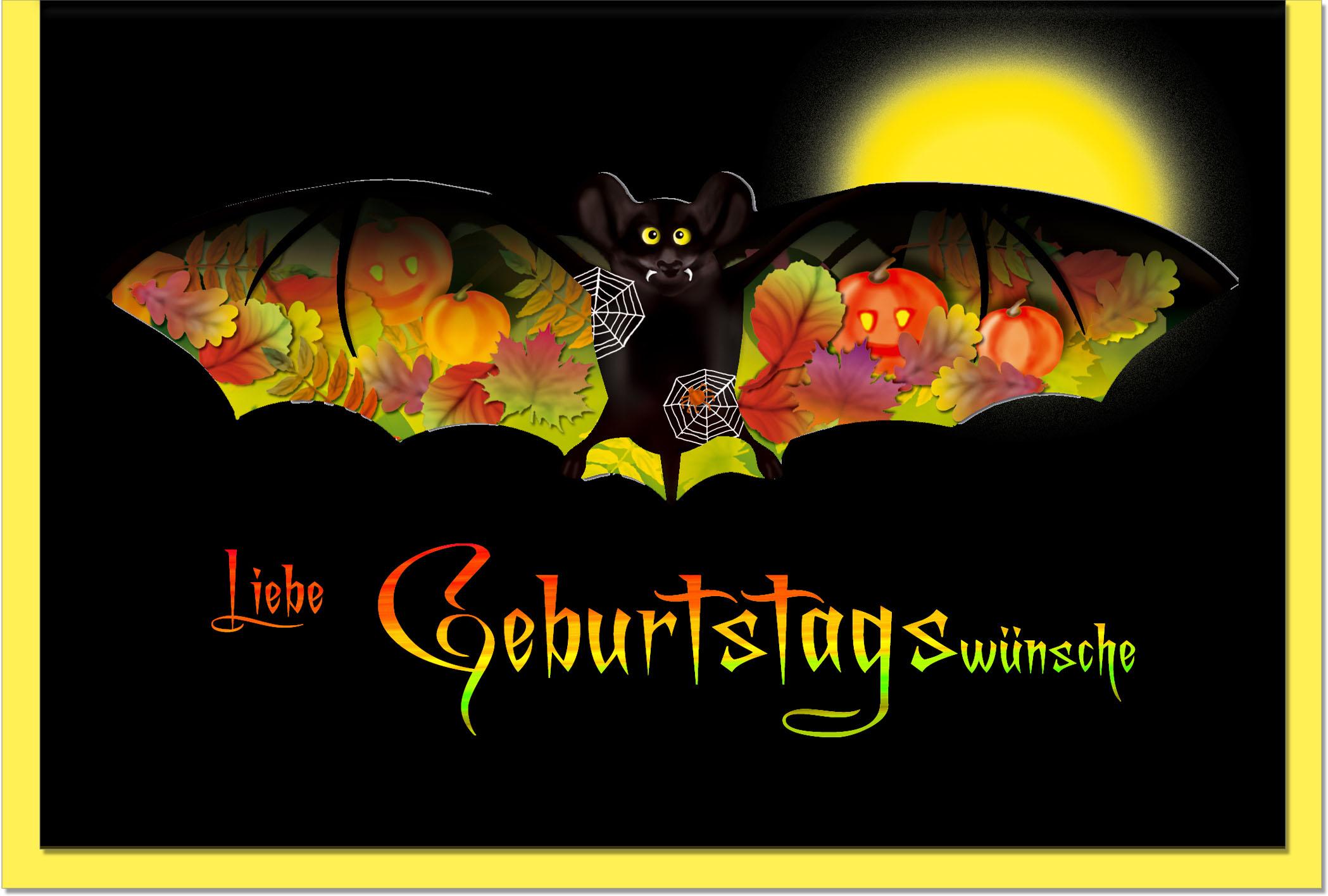 Geburtstagskarten / Grußkarten /Geburtstag Fledermaus
