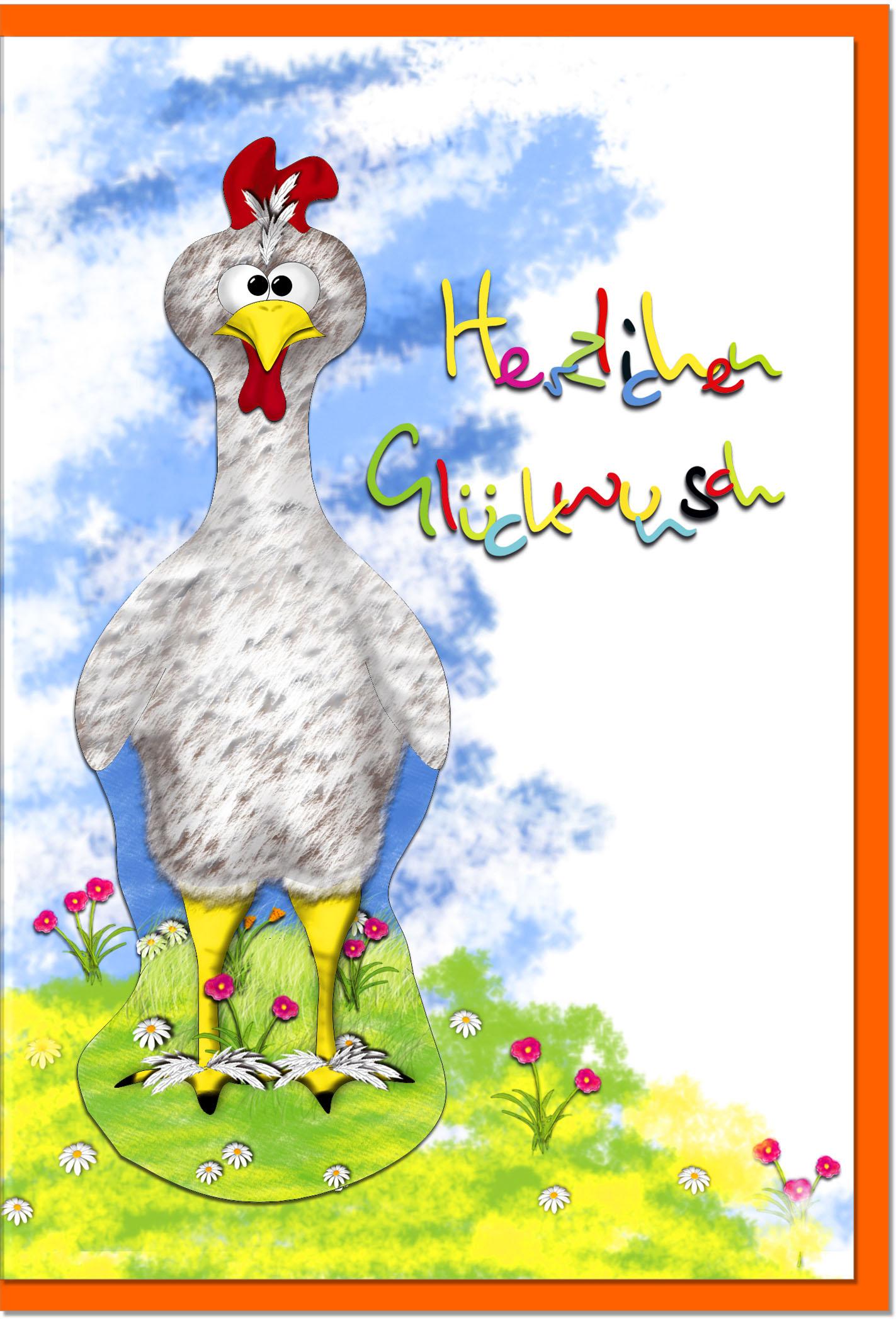 Glückwunschkarten / Grußkarten /Glückwunsch Huhn
