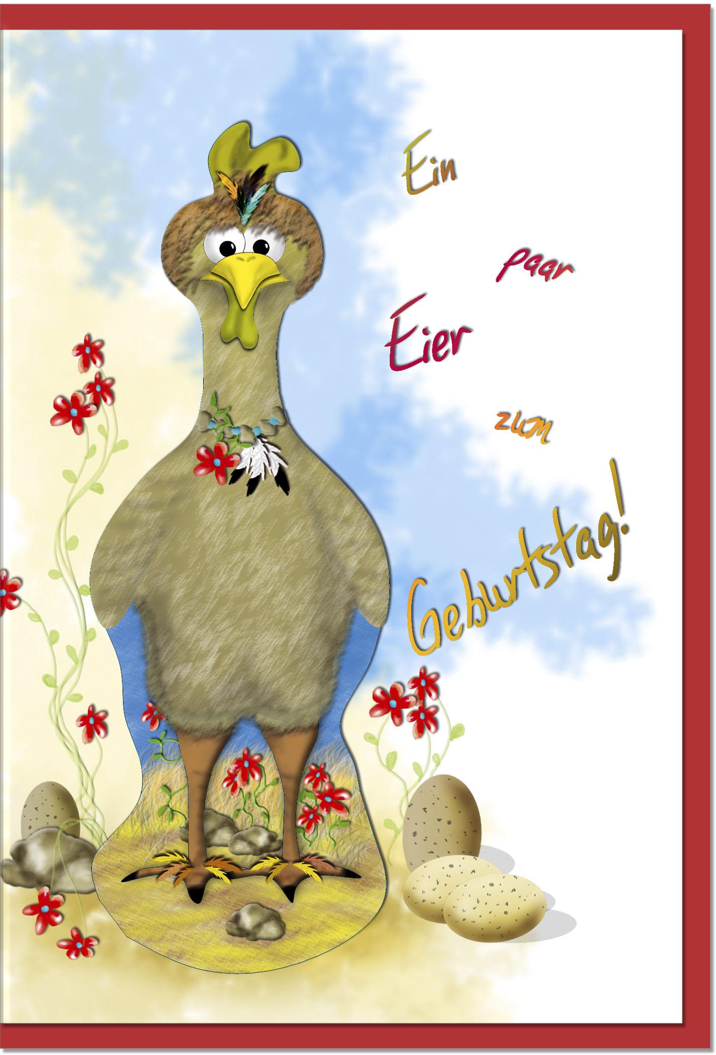 Geburtstagskarten / Grußkarten /Geburtstag Huhn