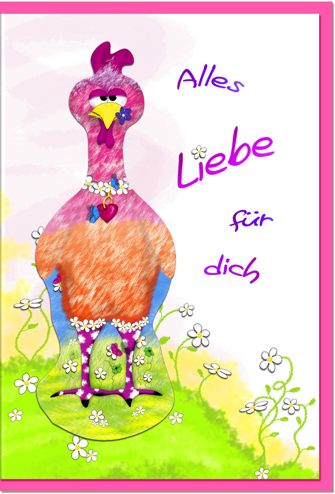 Grußkarten /Verschiedenes Huhn