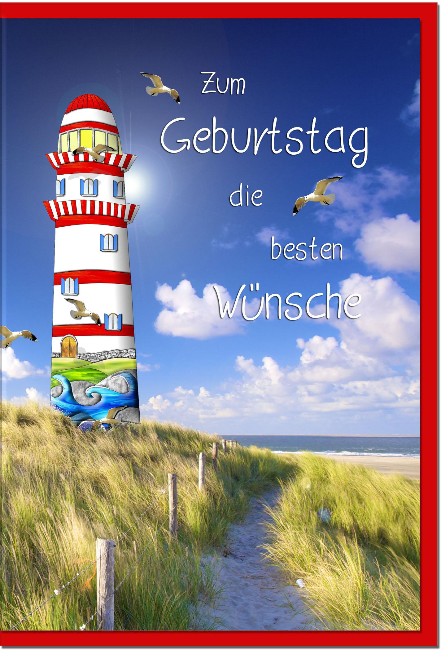 Geburtstagskarten / Grußkarten /Geburtstag Leuchtturm