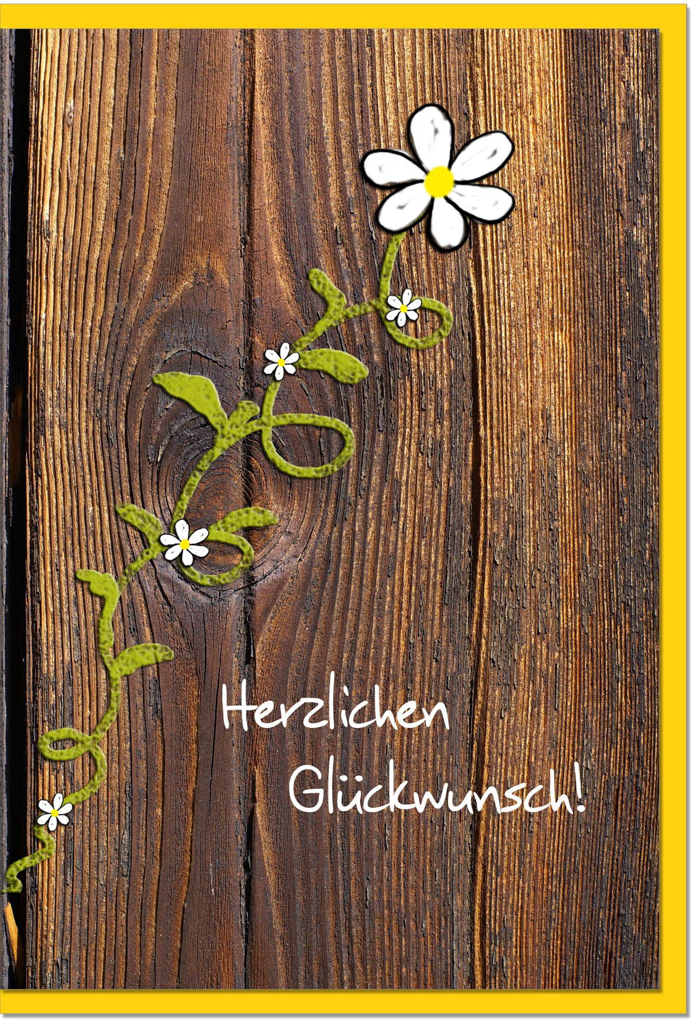 Glückwunschkarten / Grußkarten /Glückwunsch Blümchen