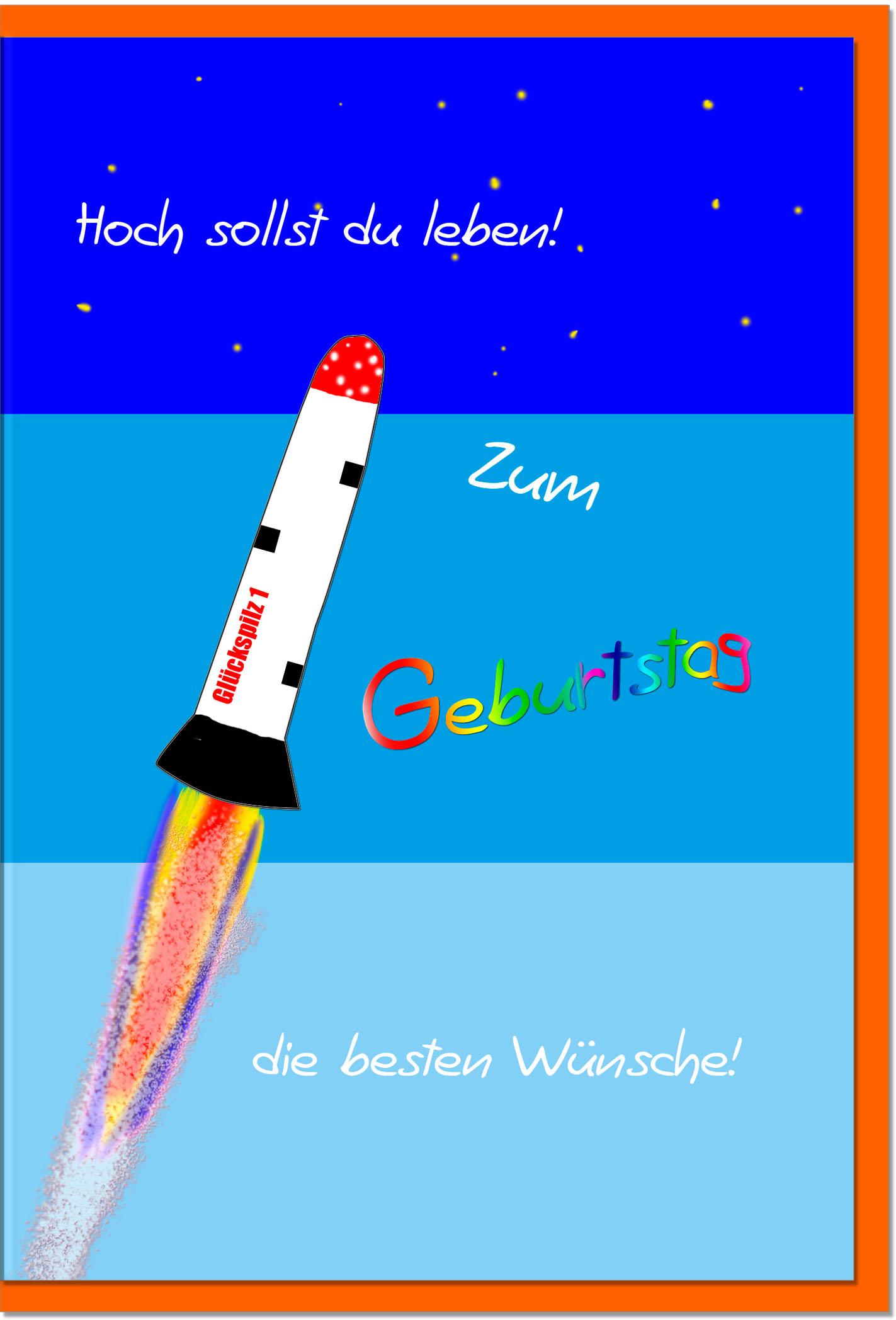 Geburtstagskarten / Grußkarten /Geburtstag Rakete