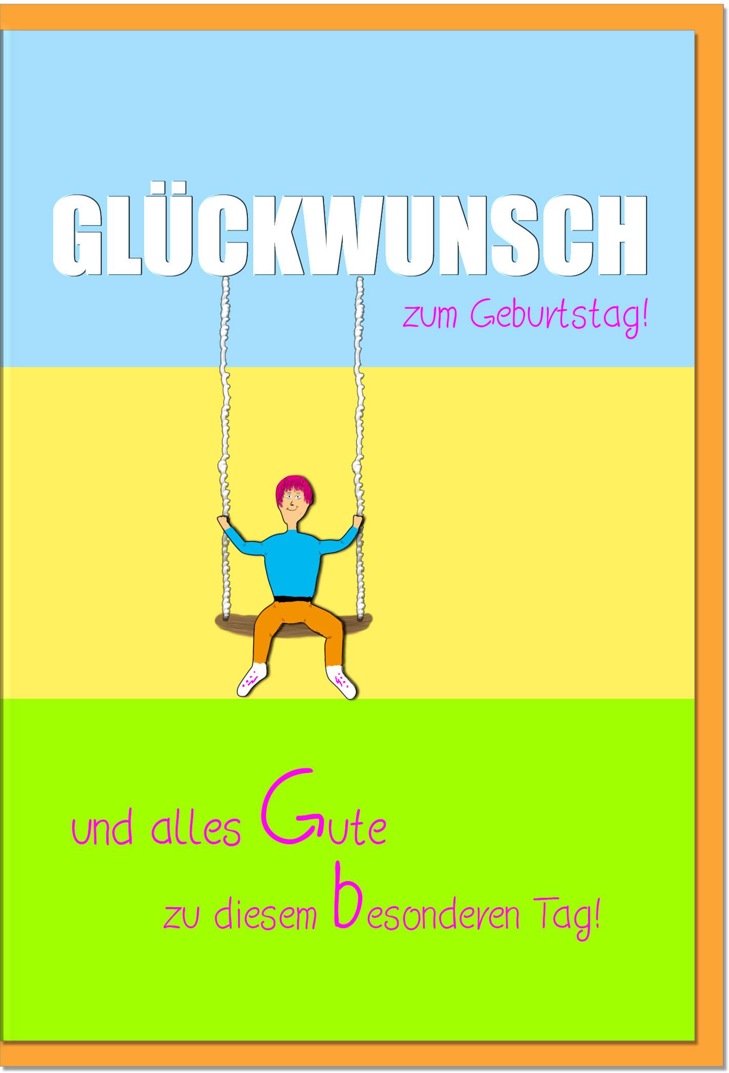 Geburtstagskarten / Grußkarten /Geburtstag Schaukel