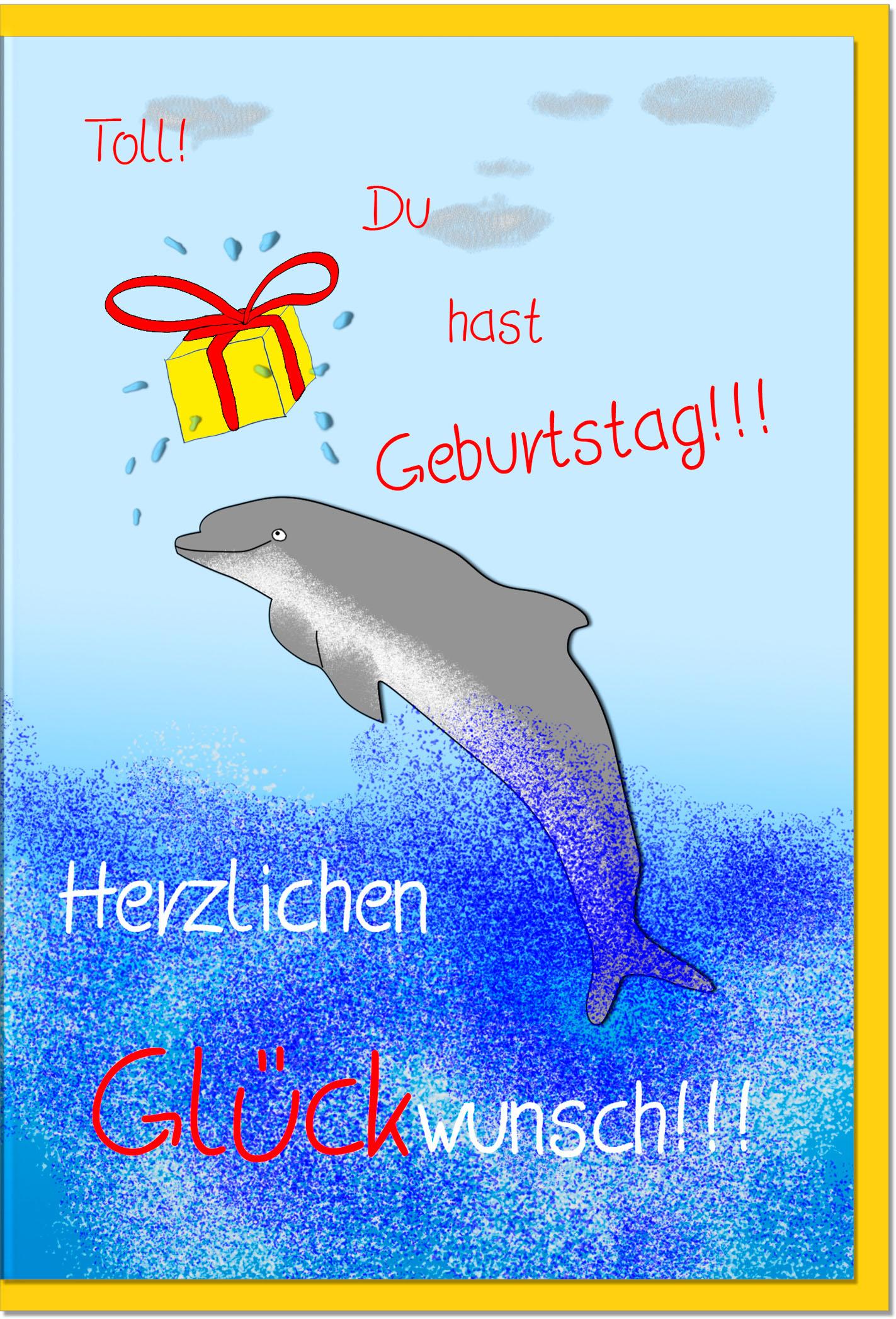 Geburtstagskarten / Grußkarten /Geburtstag Delfin