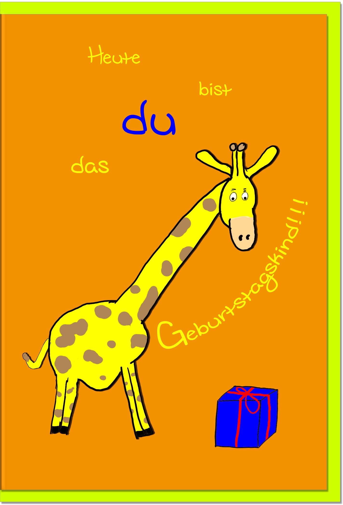Geburtstagskarten / Grußkarten /Geburtstag Giraffe