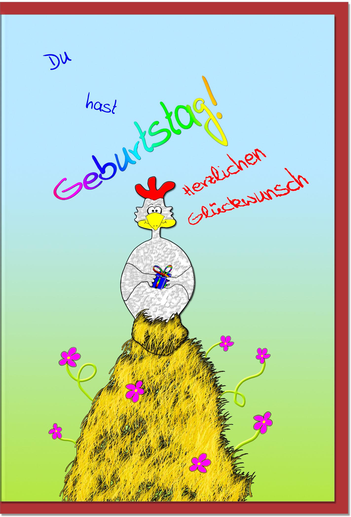 Geburtstagskarten / Grußkarten /Geburtstag Hahn