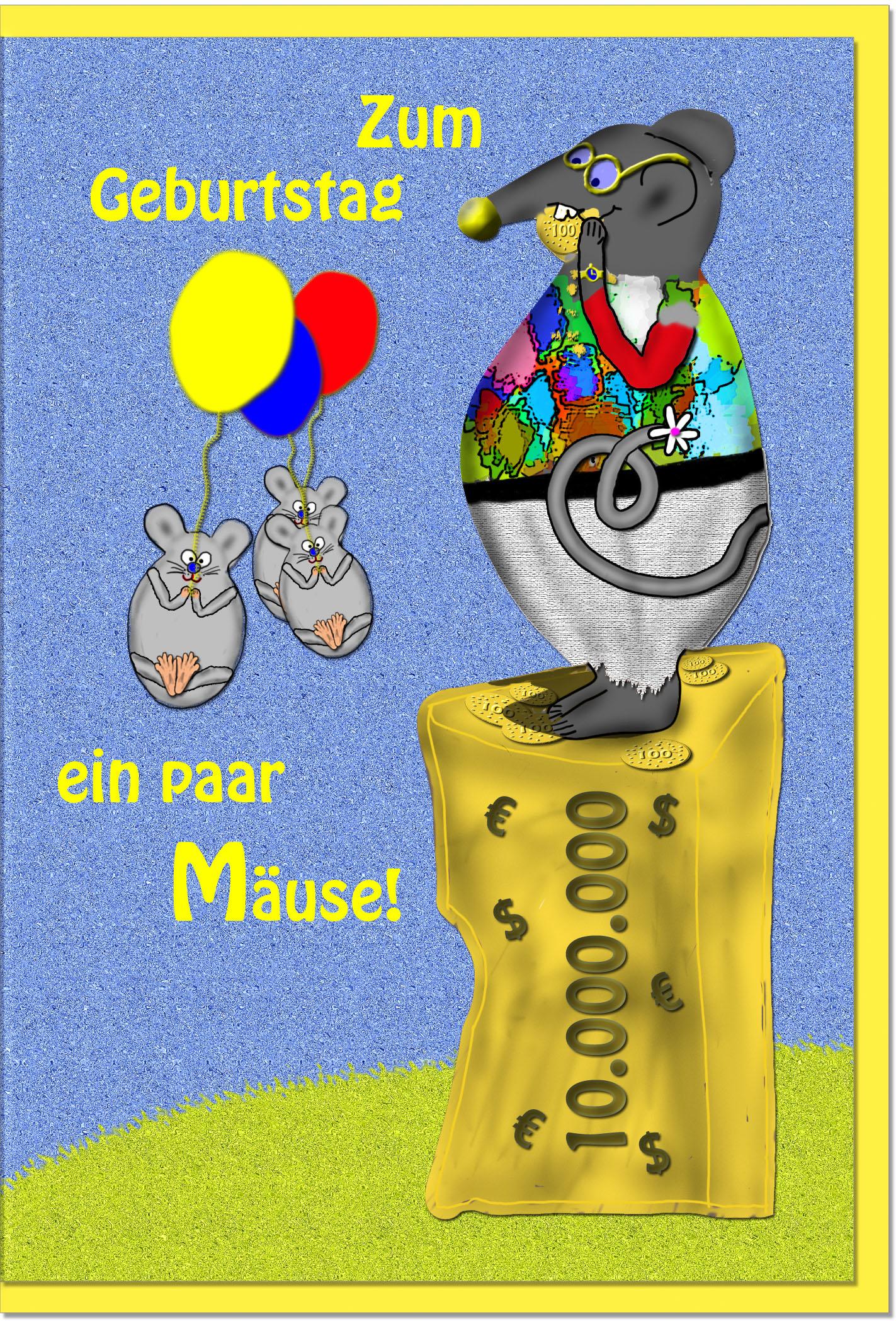 Geburtstagskarten / Grußkarten /Geburtstag Maus