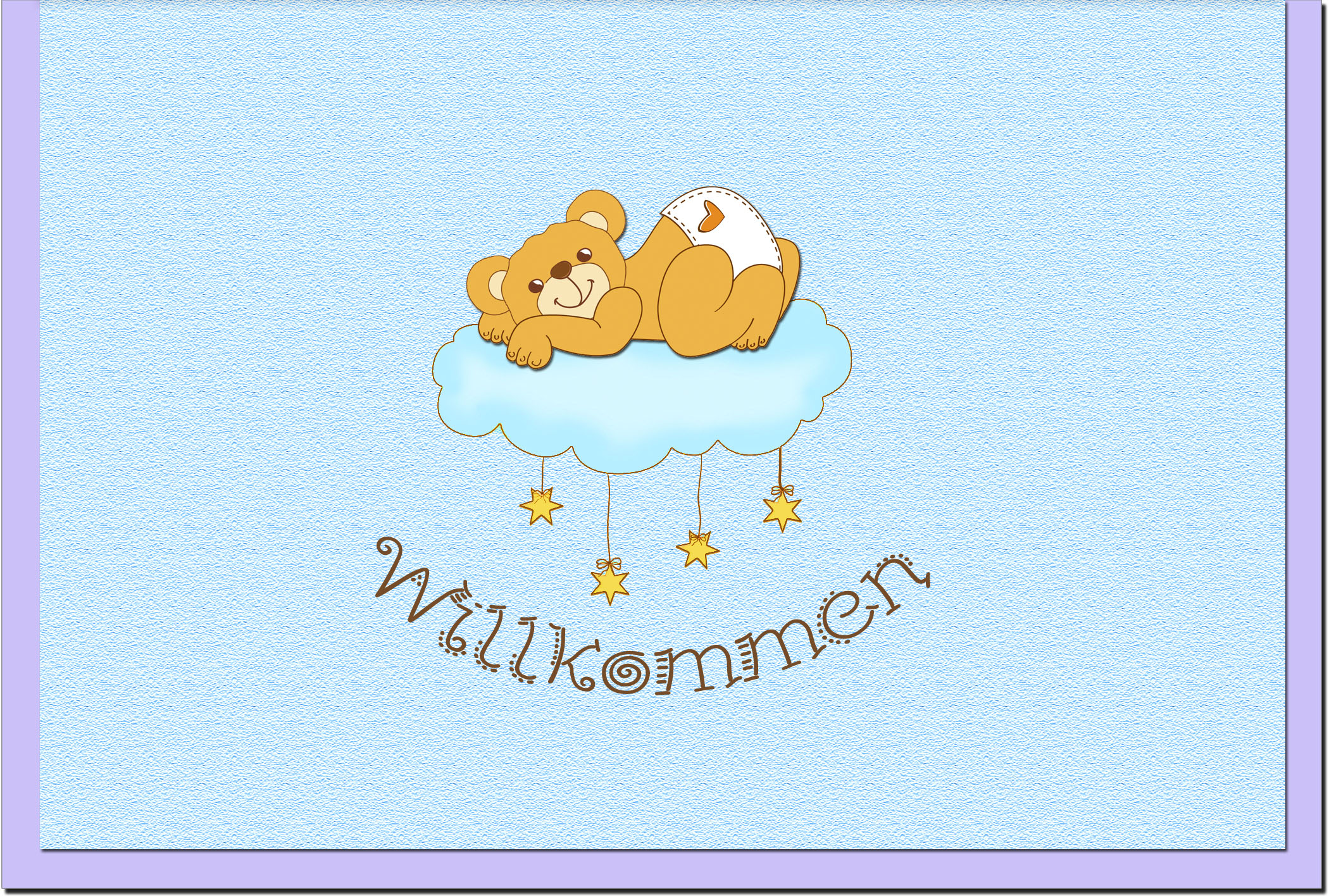 Geburtskarten / Grußkarten /Geburt Teddybär