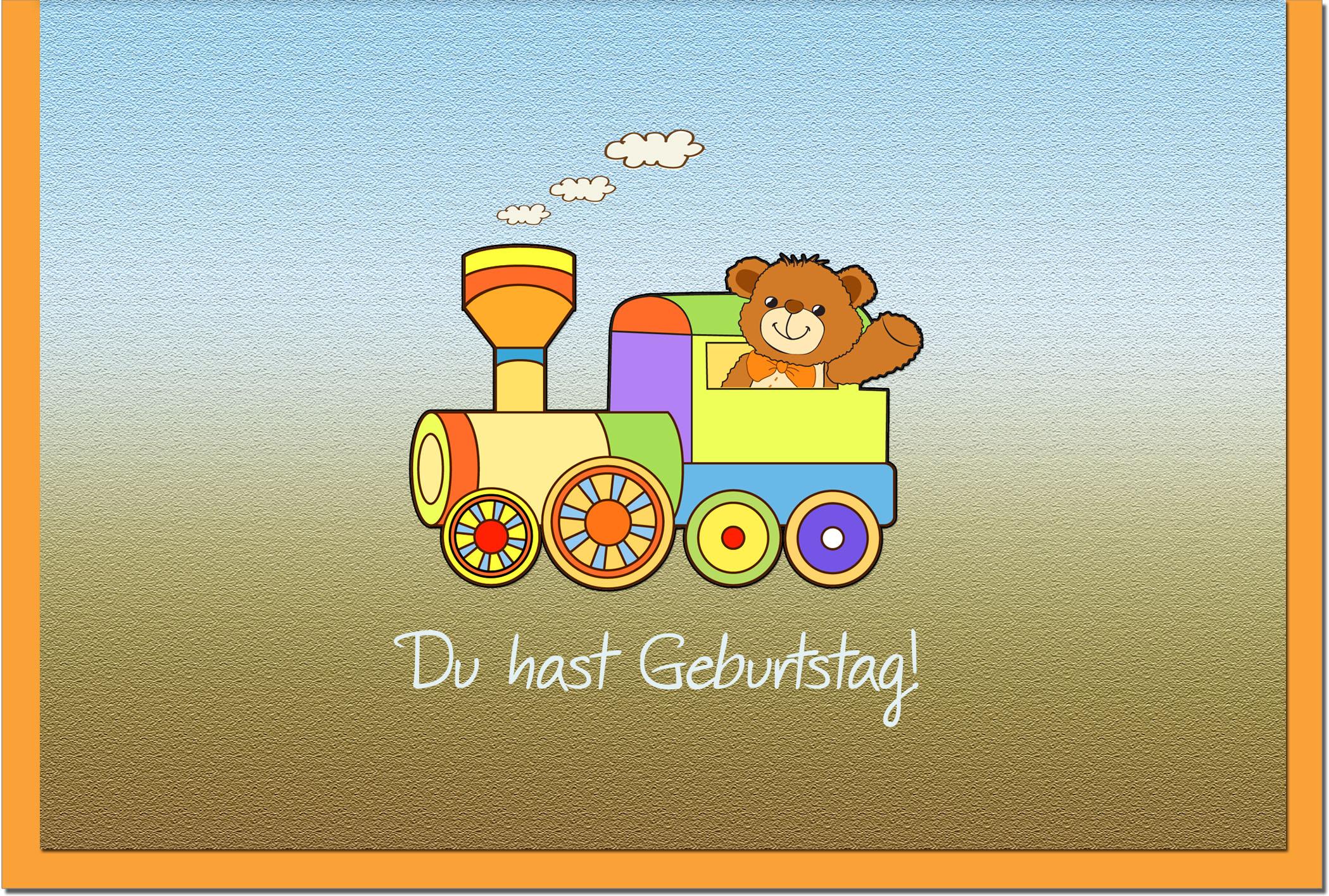 Kindergeburtstagskarten / Grußkarten /Kindergeburtstag Teddybär