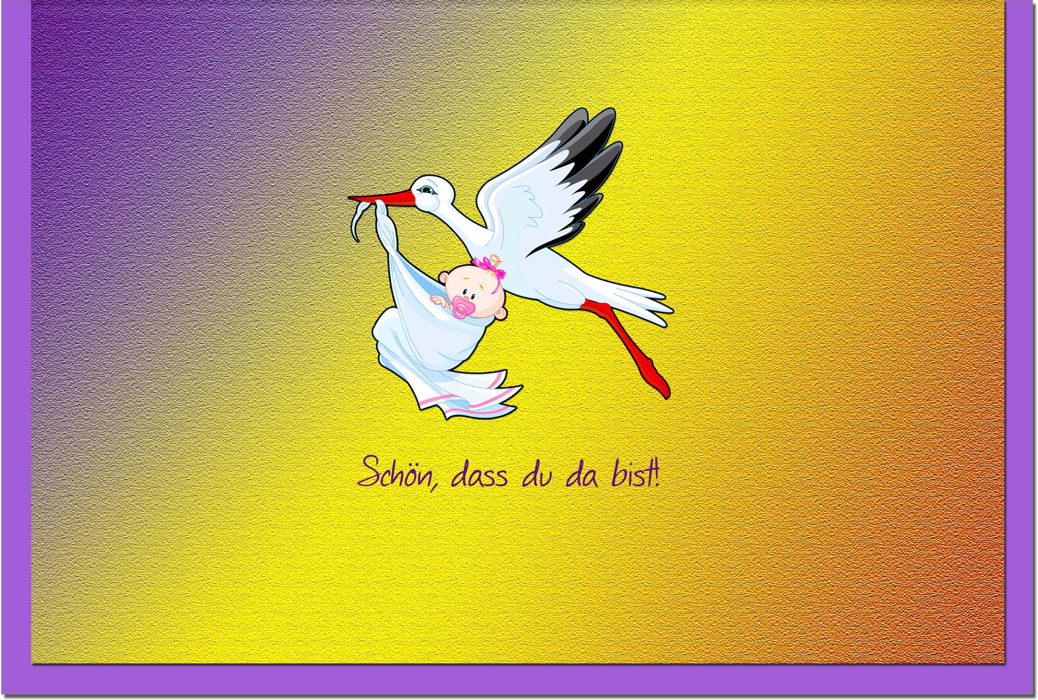 Geburtskarten / Grußkarten /Geburt Storch