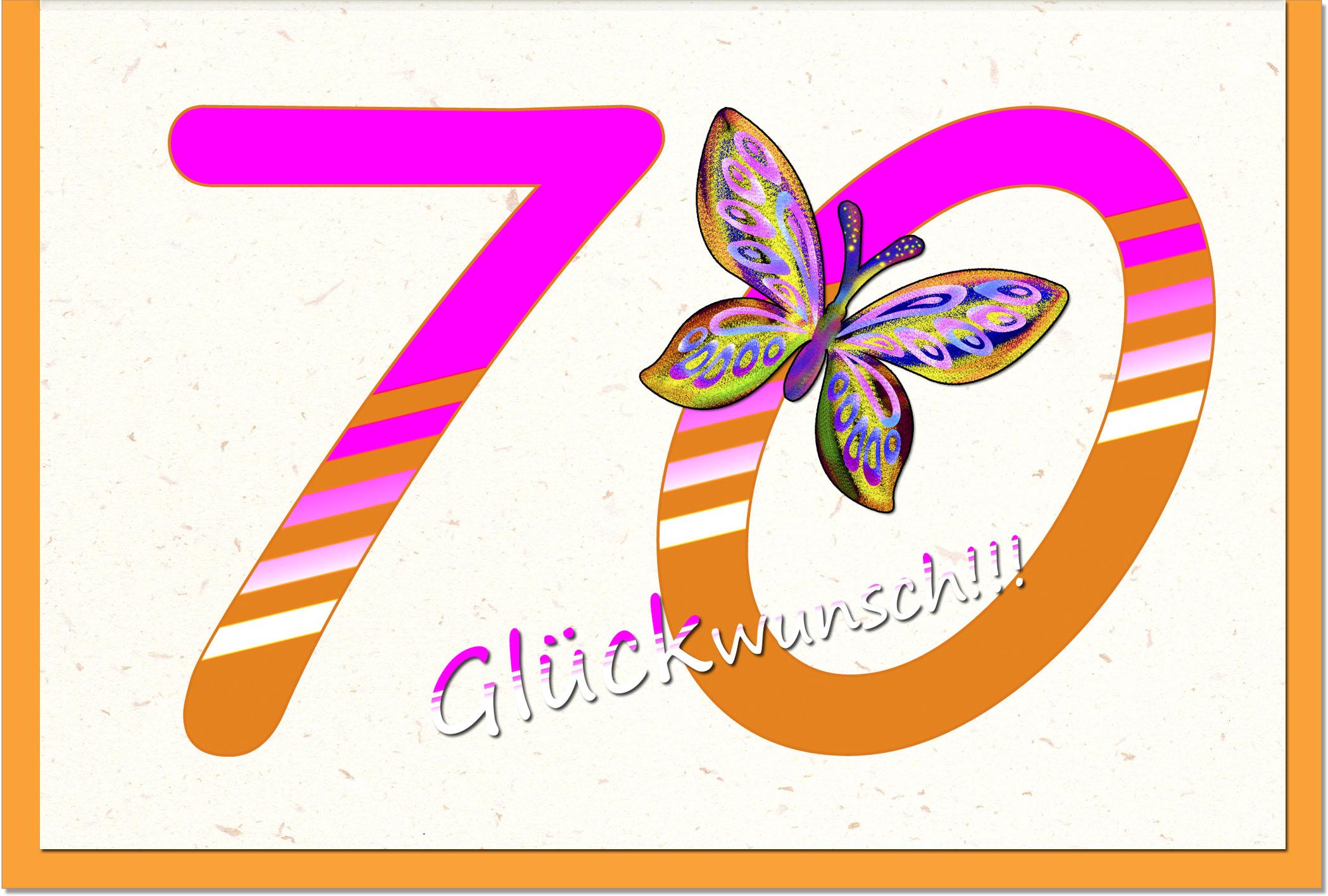 Zahlenkarten / Grußkarten /Zahlenkarte Schmetterling