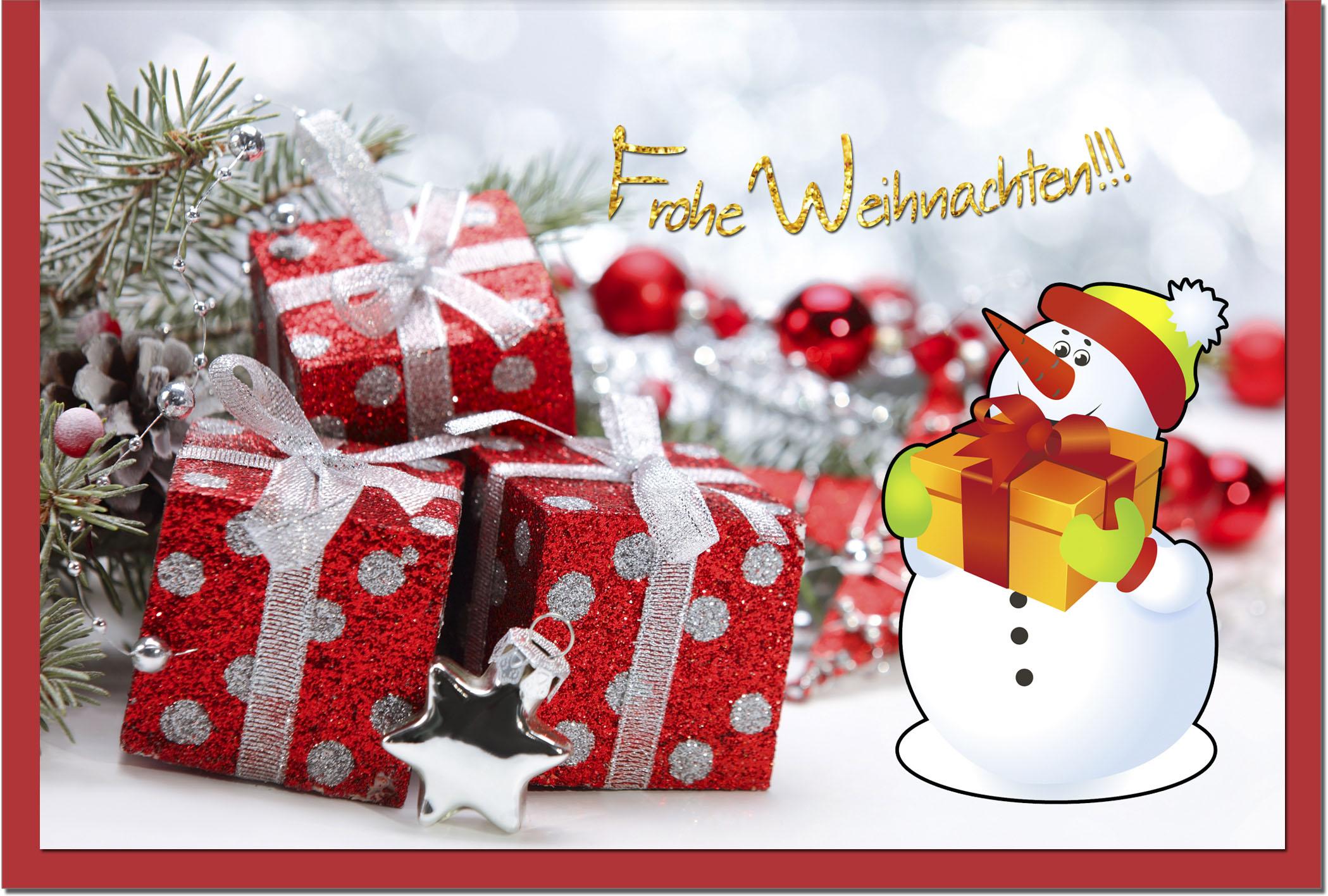 Weihnachtskarten / Grußkarten /Weihnachten Schneemann