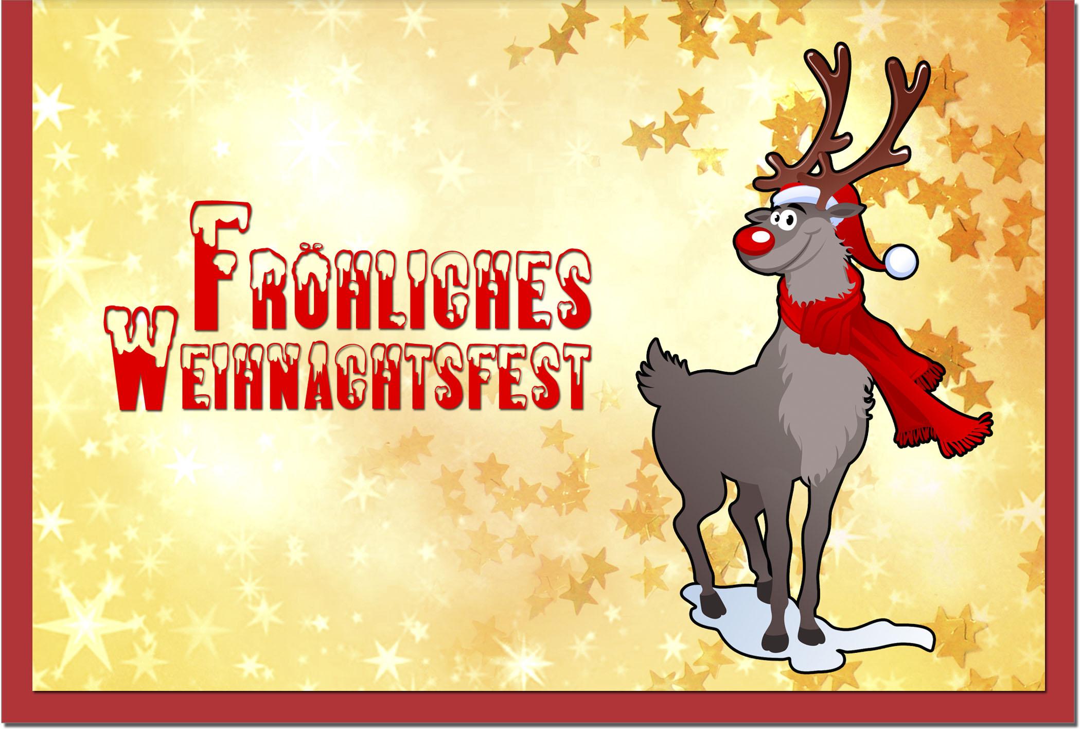 Weihnachtskarten / Grußkarten /Weihnachten Rentier