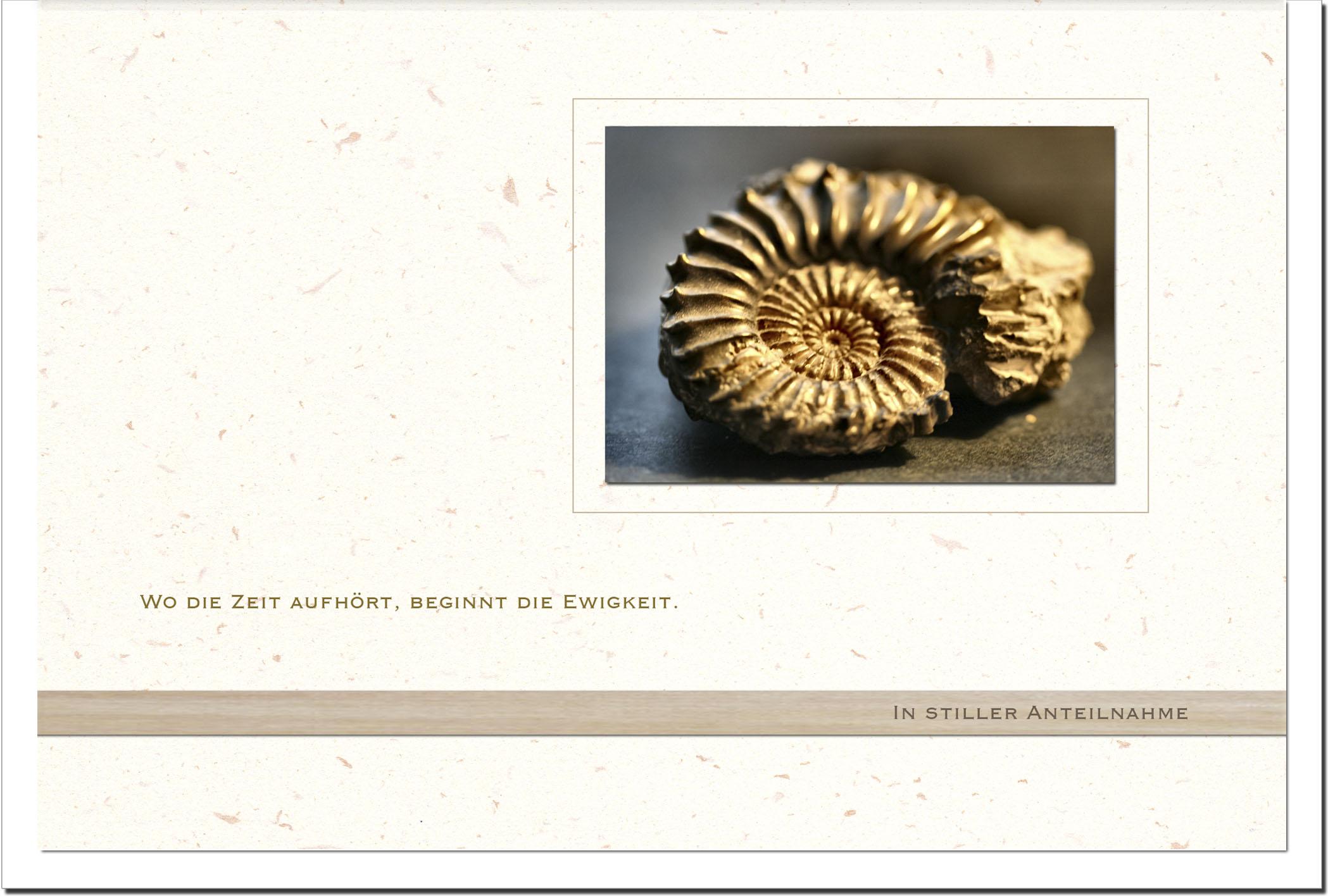 Beileidskarte BEGINN DER EWIGKEIT | Fossil | metALUm #00560