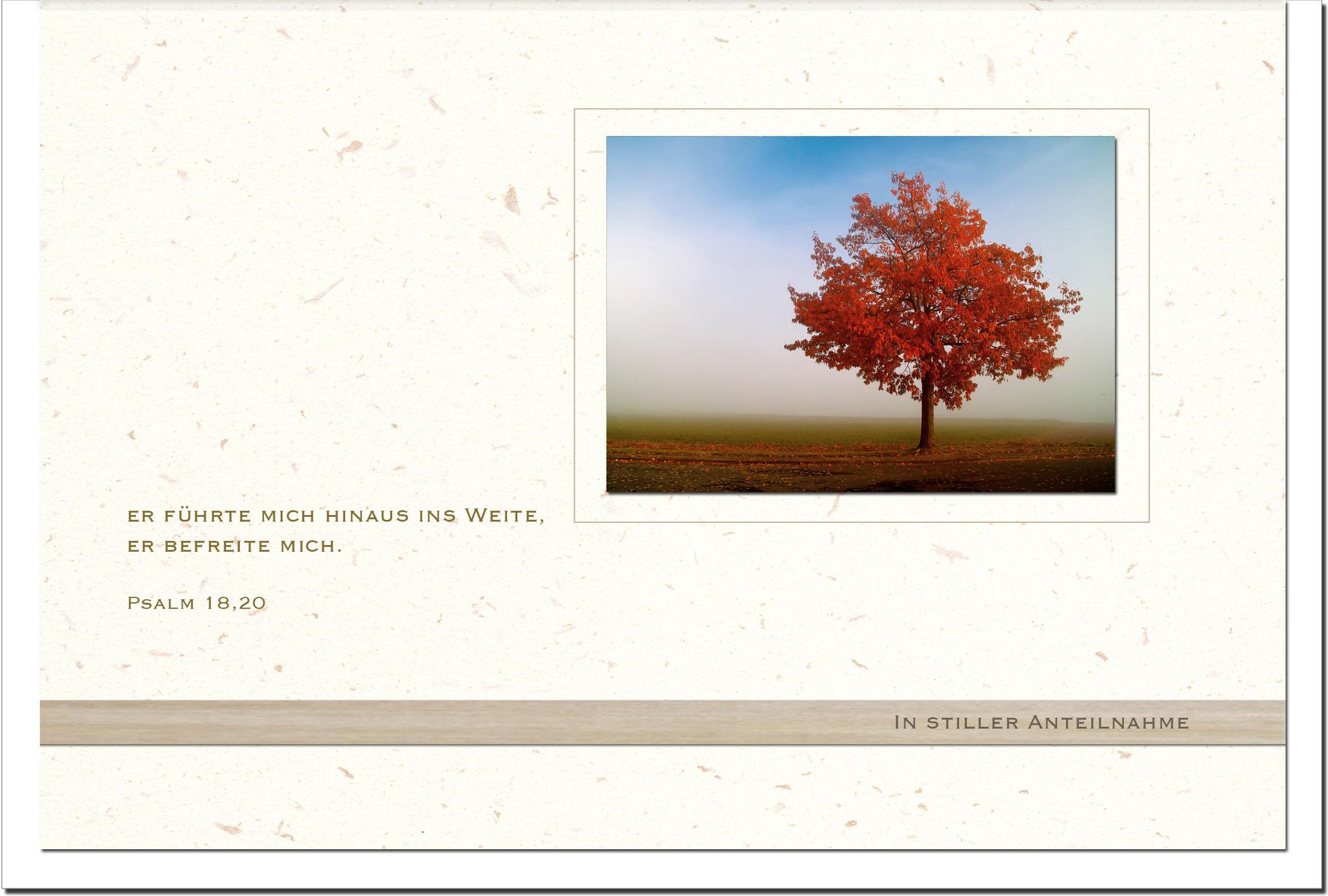 Kondolenzkarte ERLÖSUNG | Herbst | metALUm #00564
