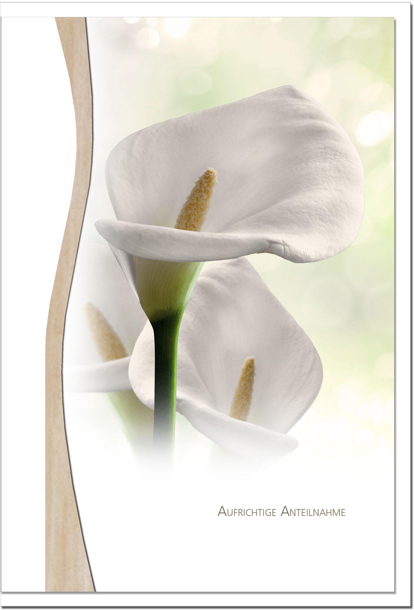 Trauerkarte ABSCHIED | Callas | metALUm #01338