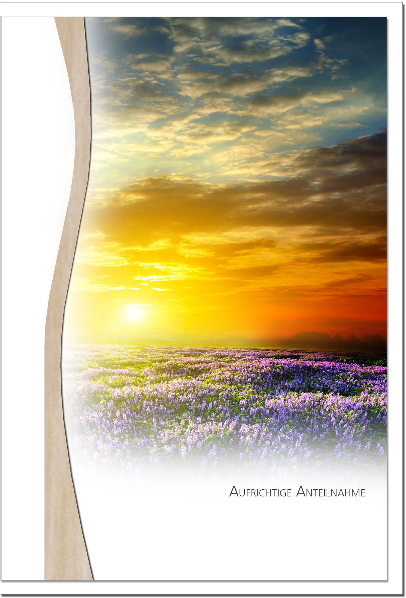 Beileidskarte ABSCHIED | Sonnenuntergang | metALUm #01345