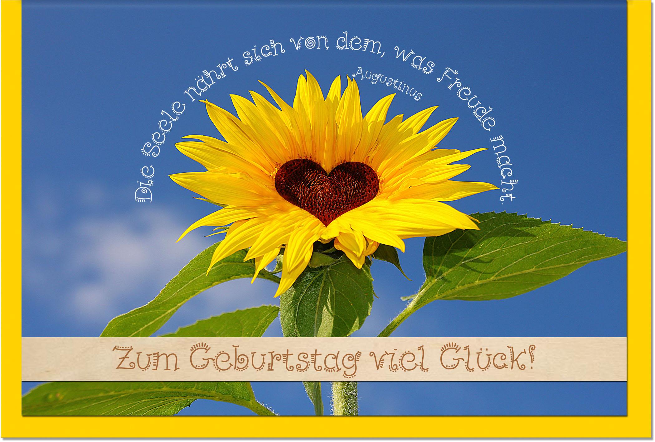 Geburtstagskarten / Grußkarten /Geburtstag Sonnenblume ...