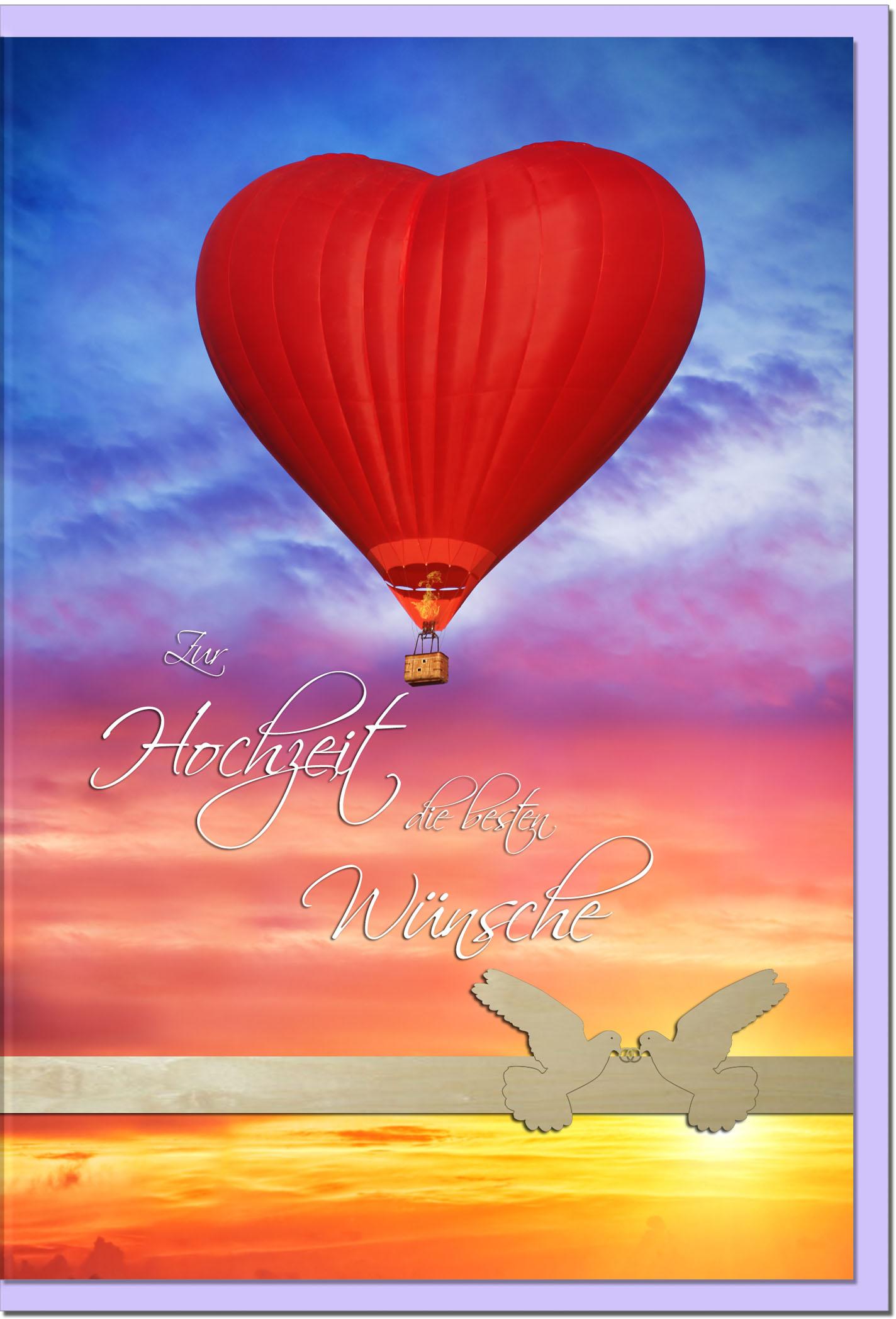 Hochzeitskarten / Grußkarten /Hochzeit Heissluftballon